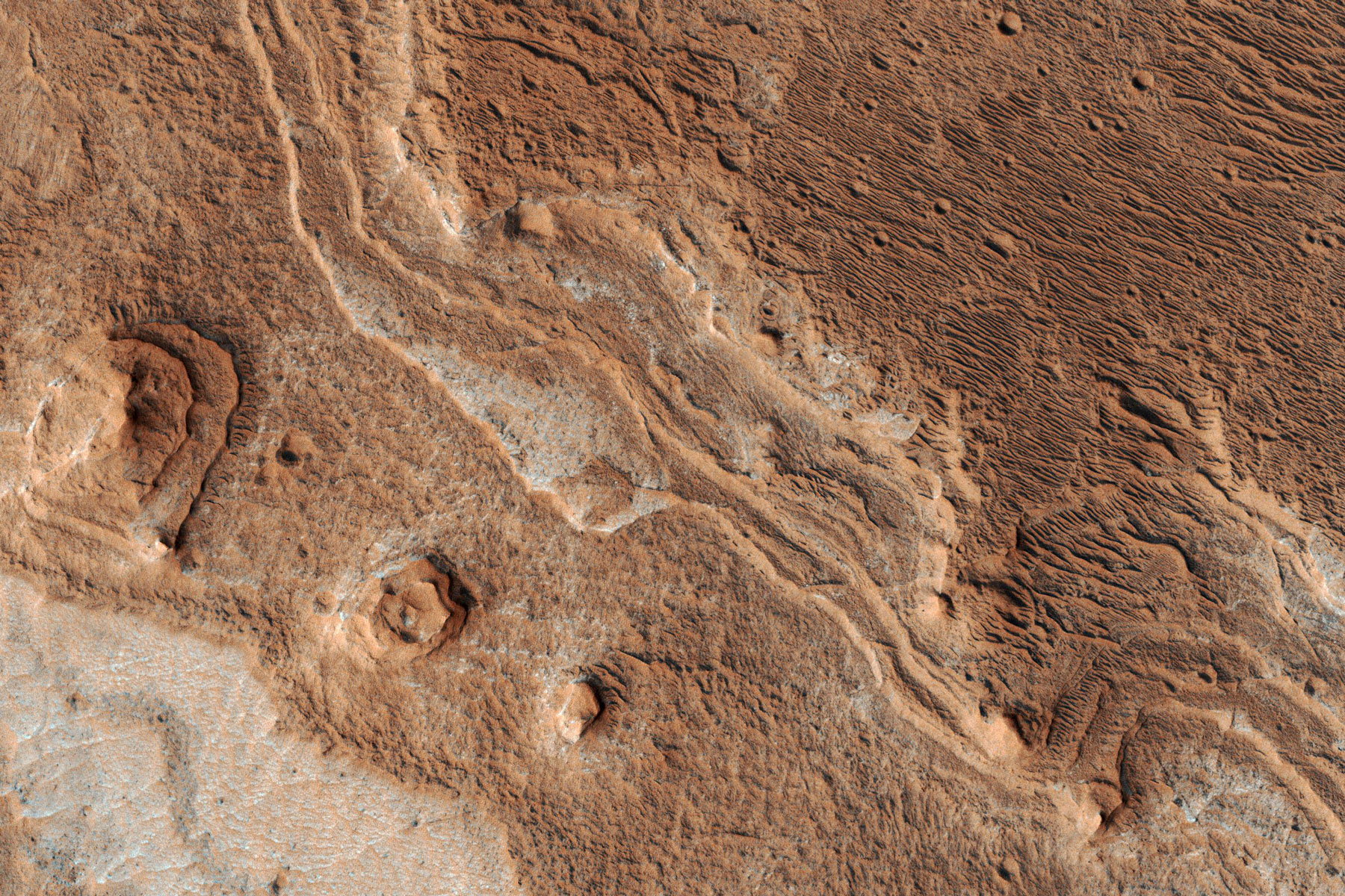 eroded layers in Shalbatana Valles, Mars