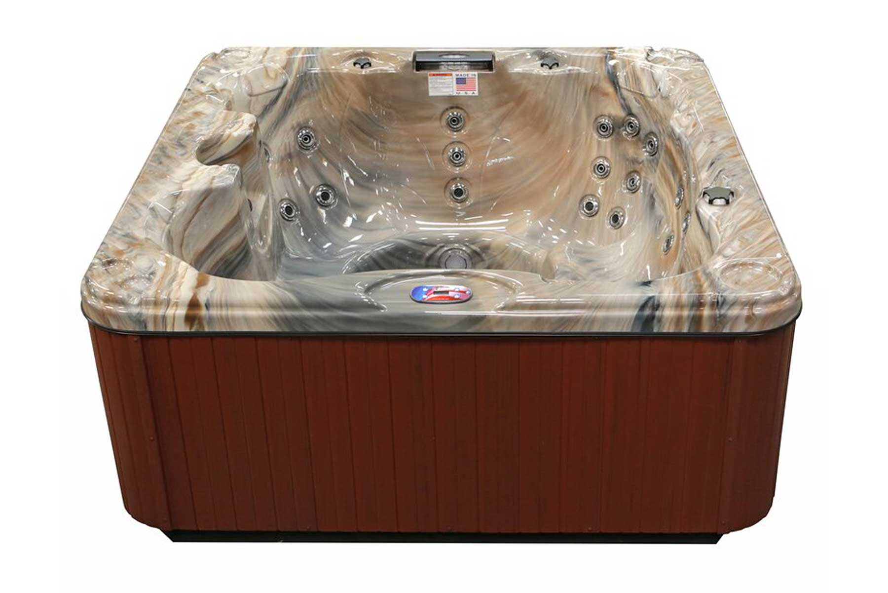 7-Person 30-Jet Hot Tub with Backlit LED Waterfall