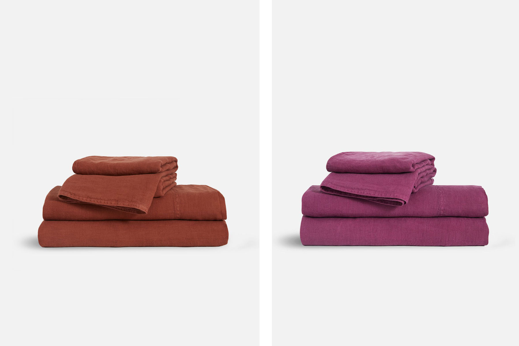 Terracotta and fuchsia sheets