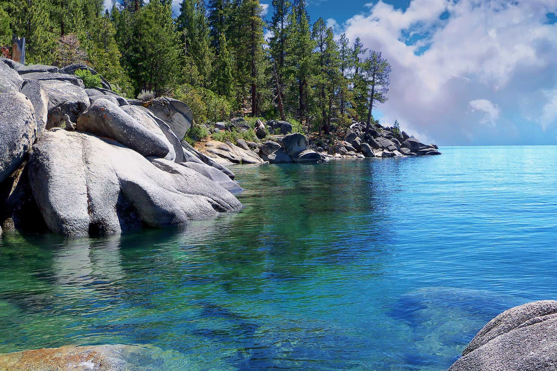 Lake Tahoe's crystal blue water