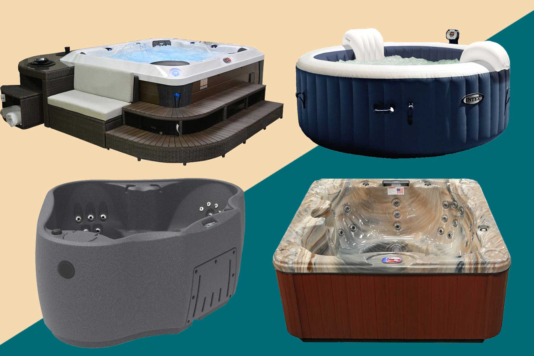 Hot Tubs from Wayfair and Target