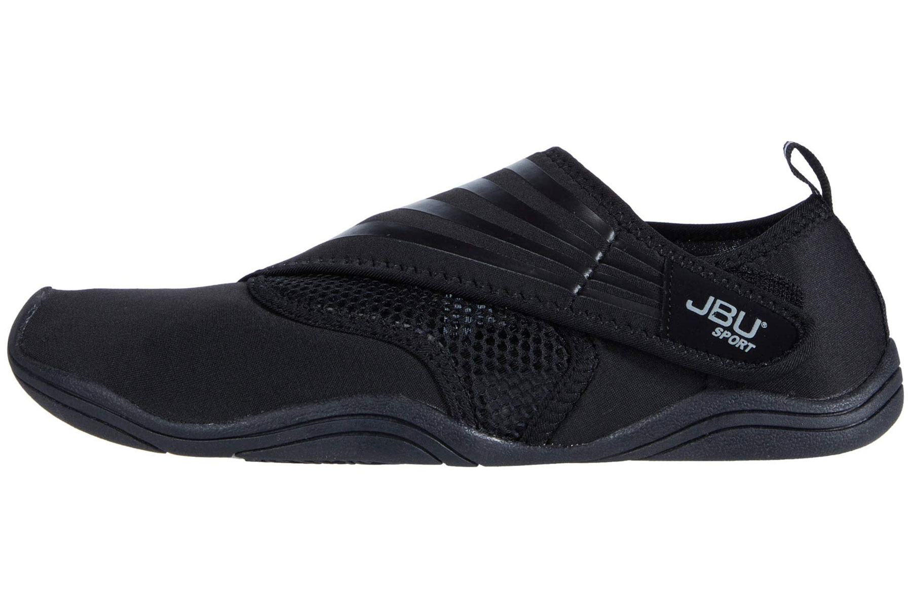 Black slip-on water shoes