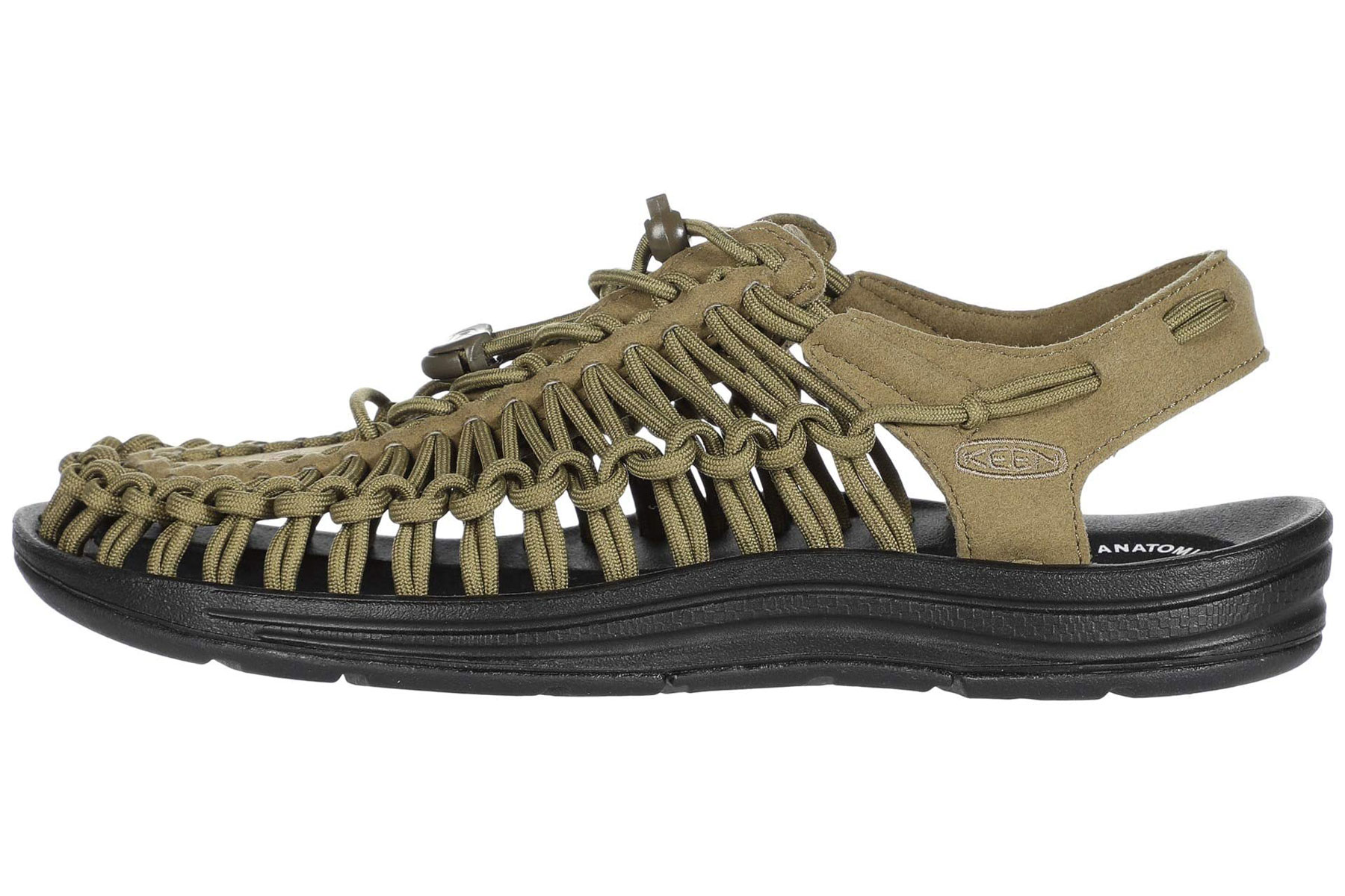 Army green water sandals