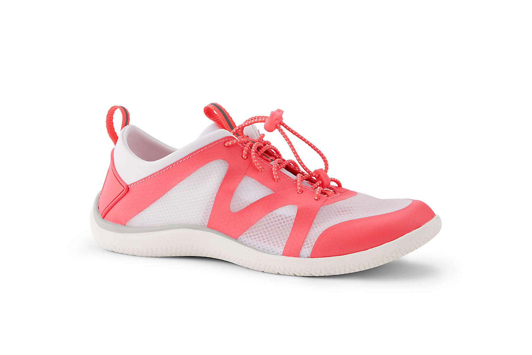 Women's white and pink water shoes