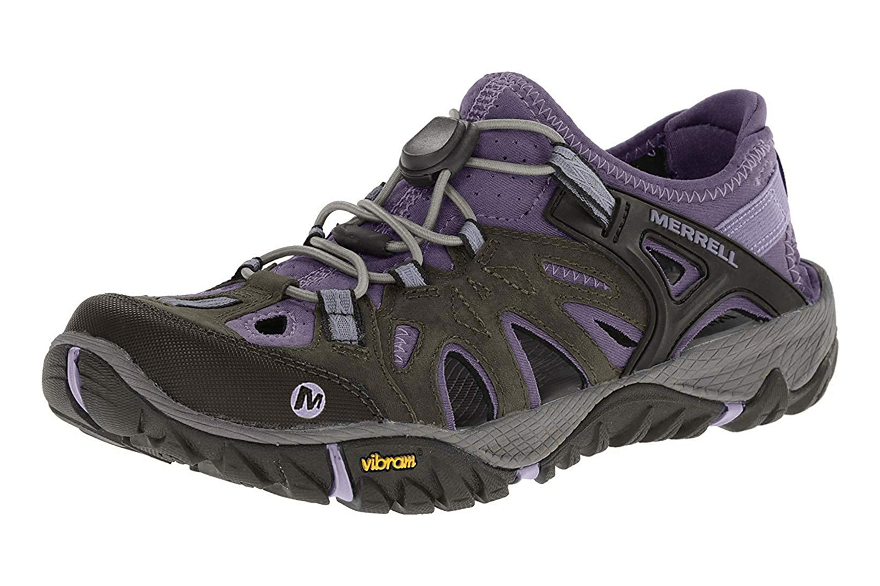 Grey and purple water shoes