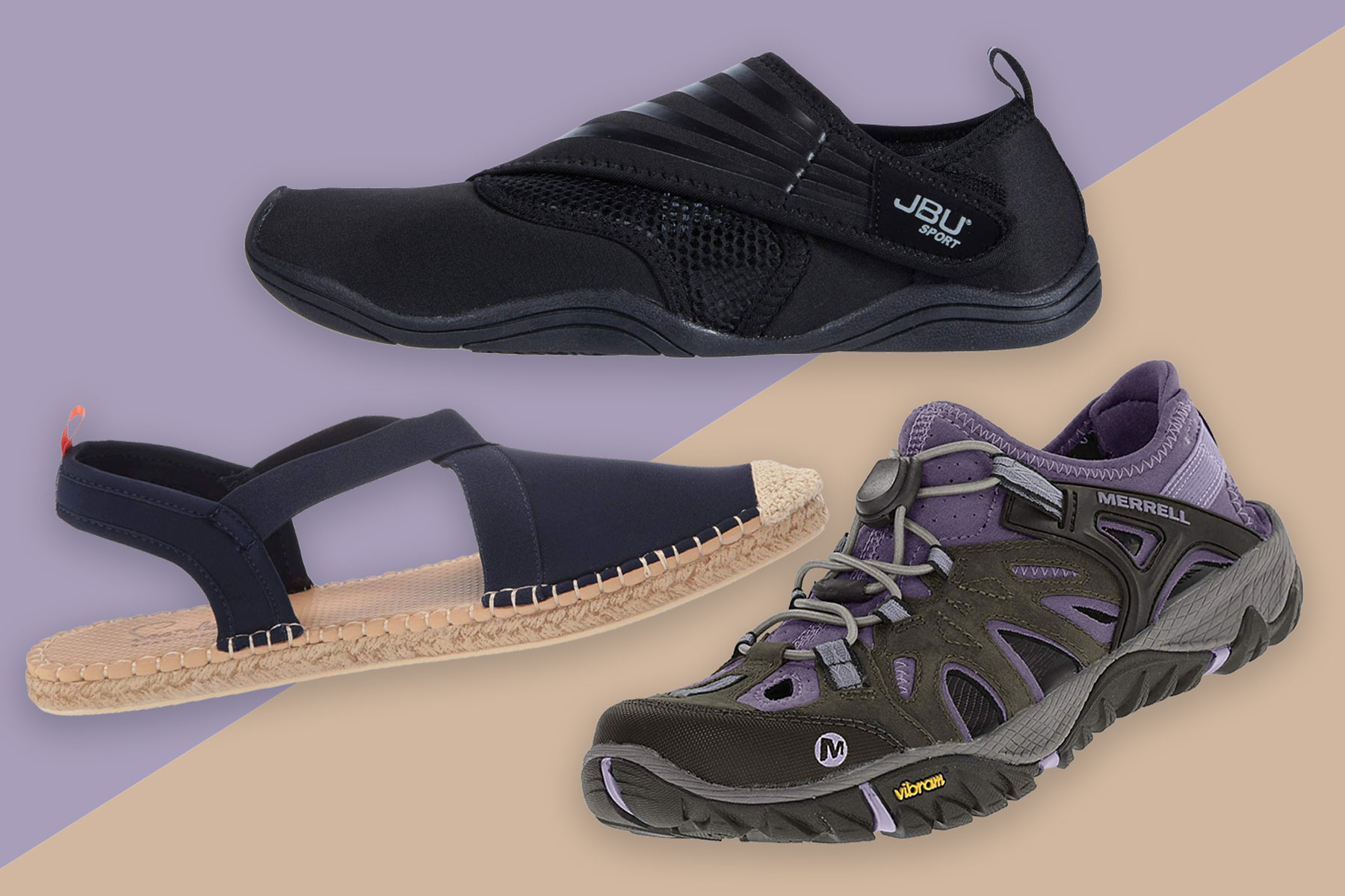 Three women's water shoes