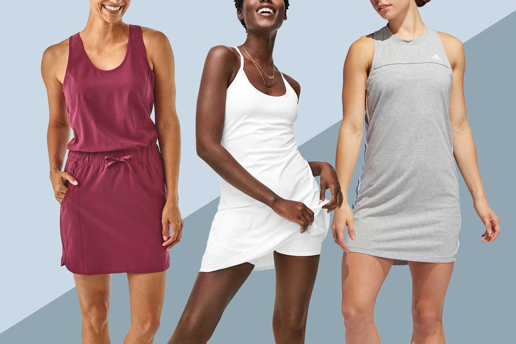 Exercise dresses from Outdoor Voices and Dick's Sporting Goods