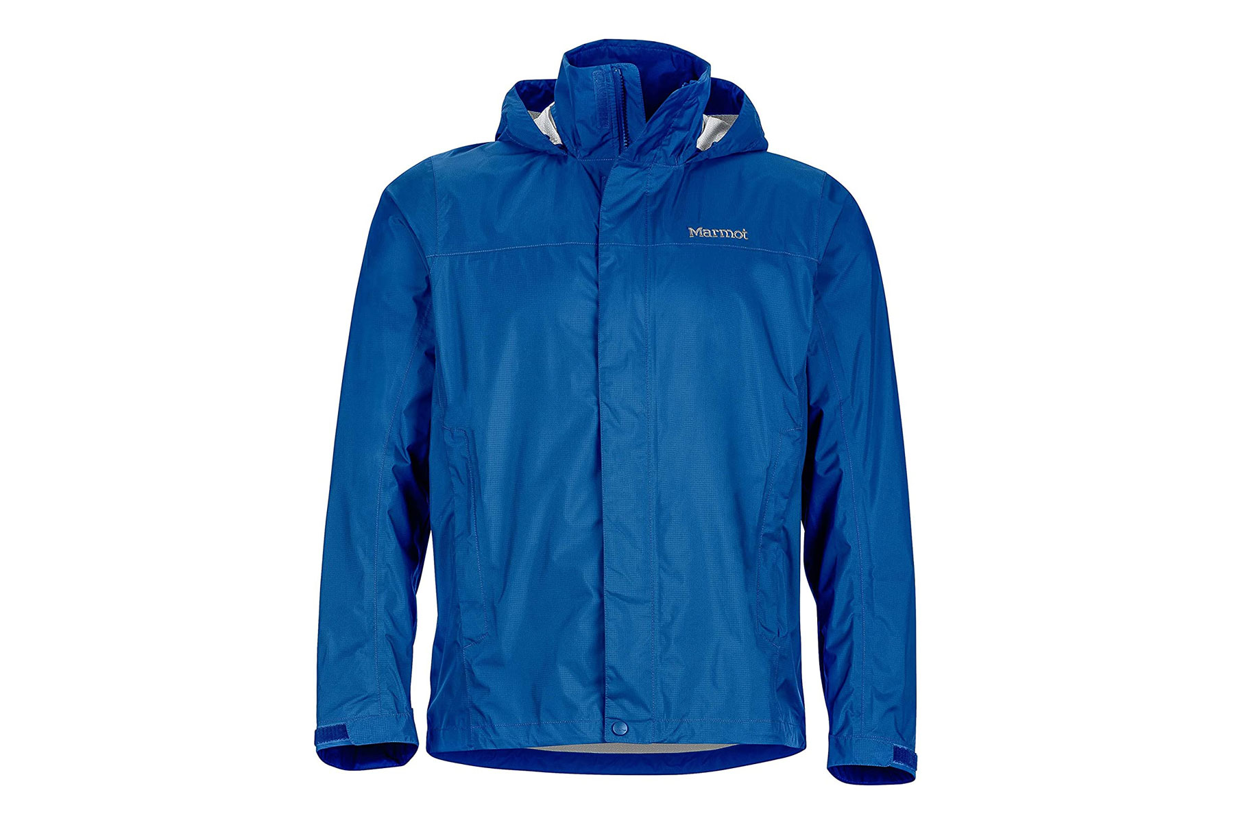 Men's blue rain jacket