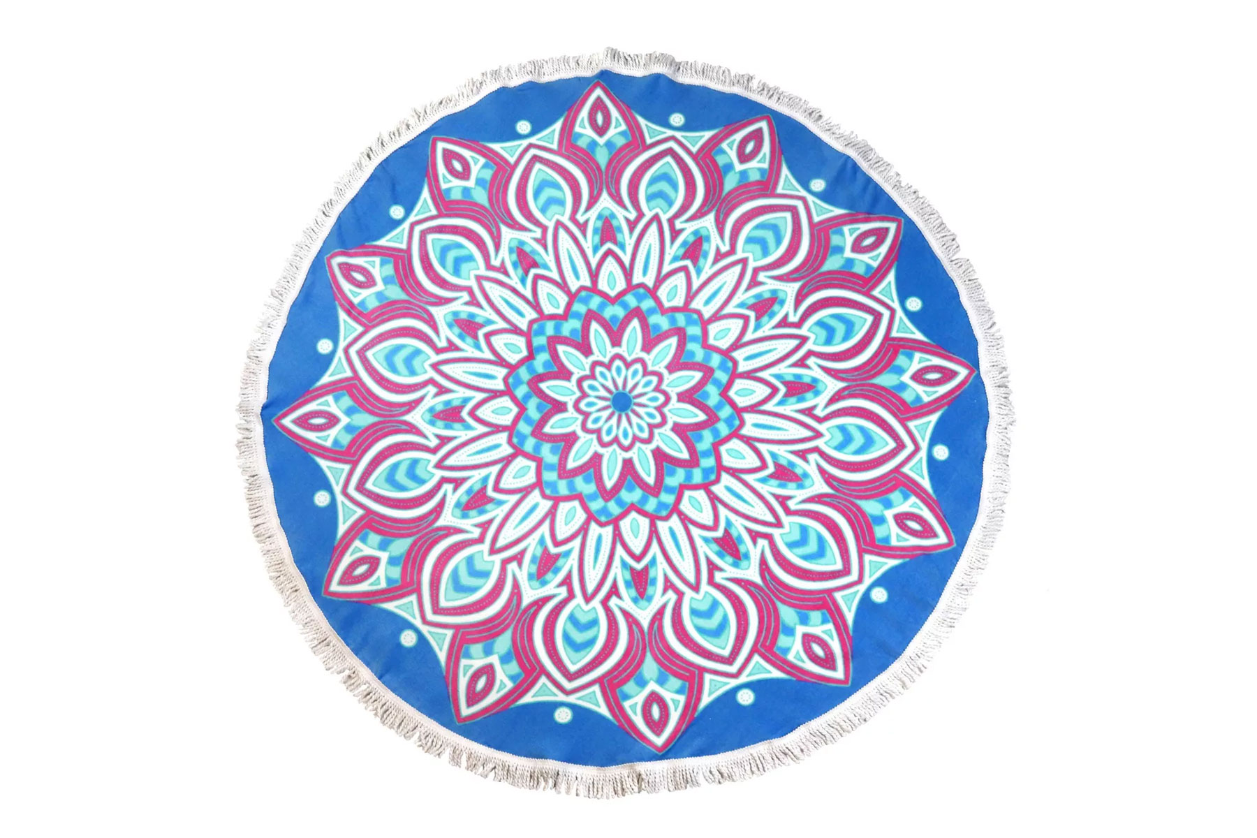 Mult-colored patterned round beach towel