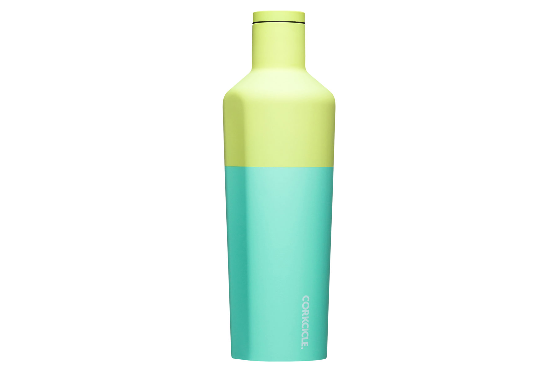 Green and blue water bottle tumbler