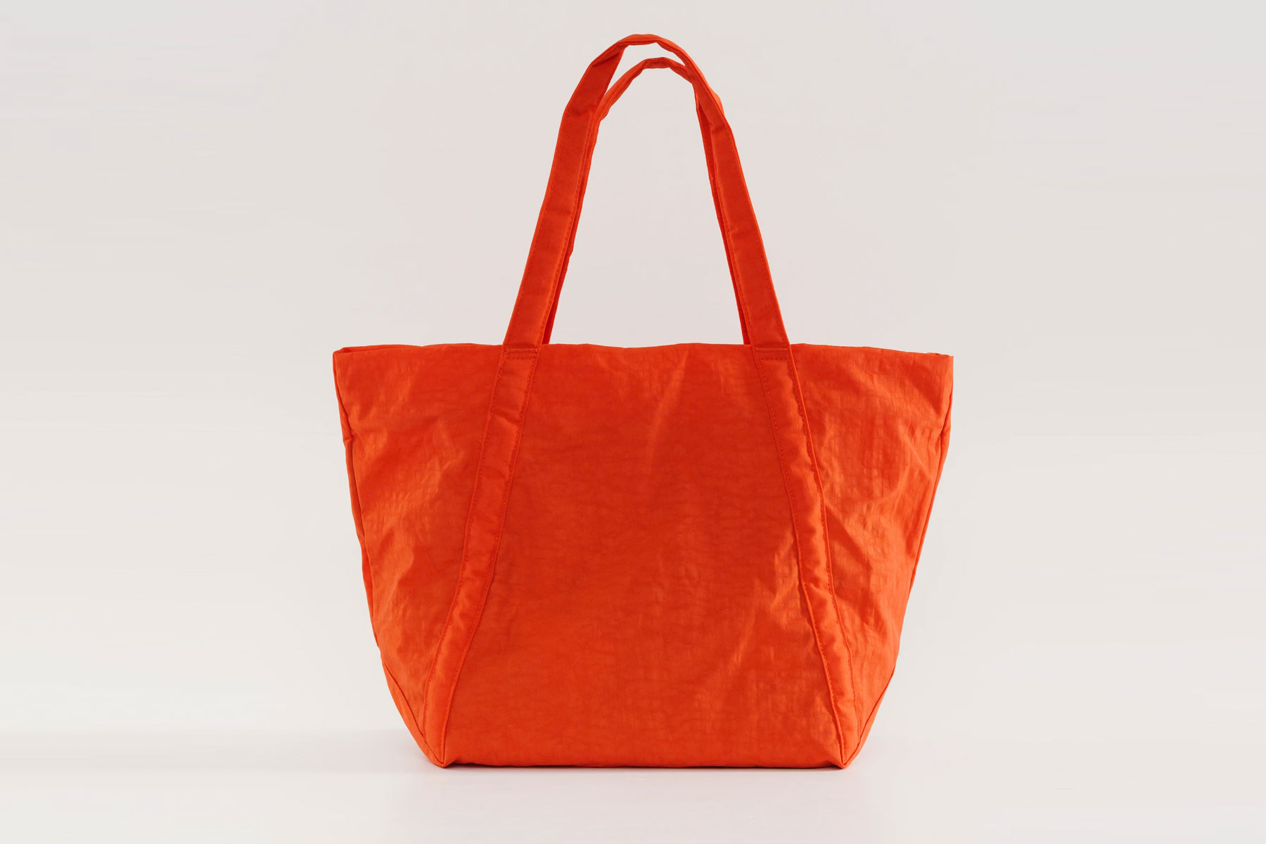 Orange fabric tote bag