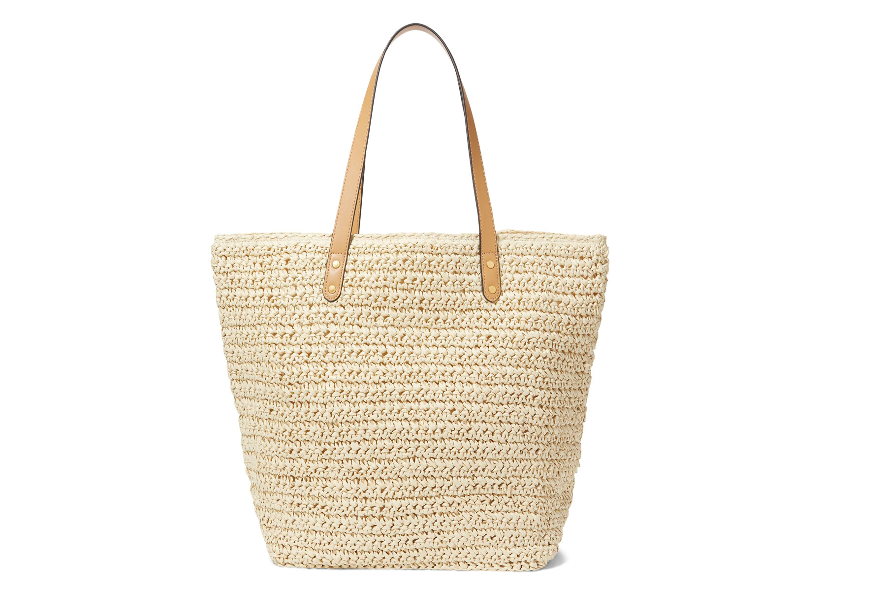 Light straw tote