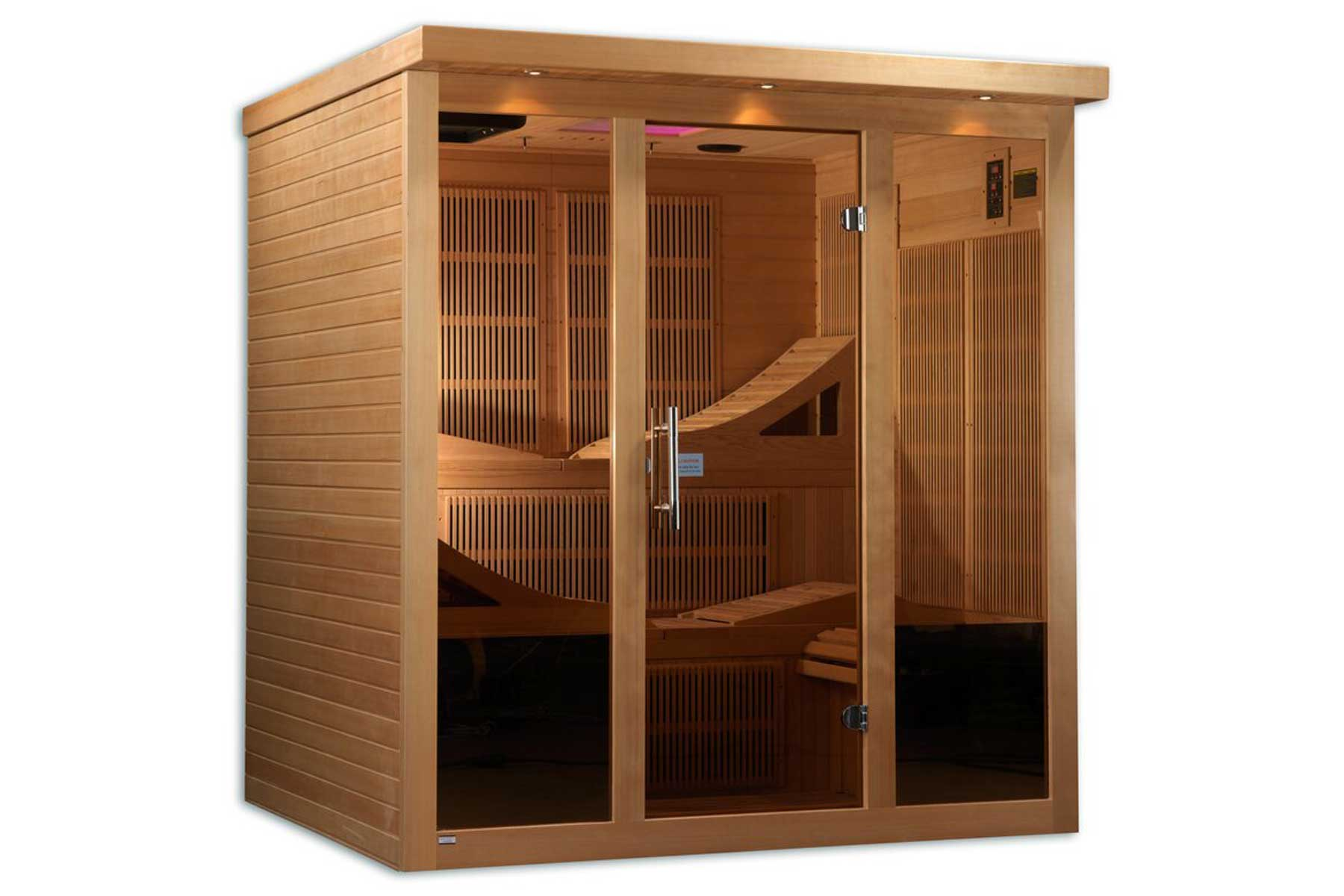 "Dynamic Infrared ""Monaco"" 6 Person Ulta Low EMF FAR Infrared Sauna"