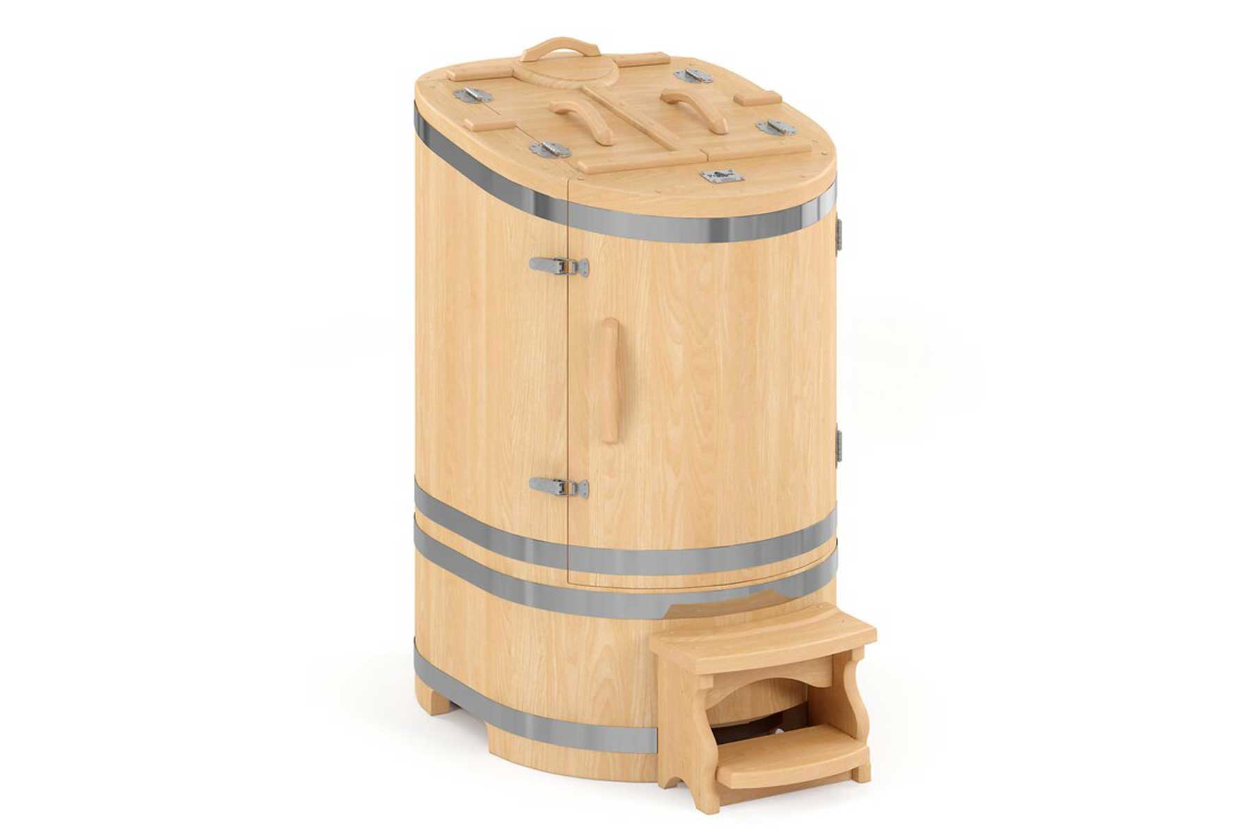 RebirthPRO Luxury Cedar Barrel 1 Person Traditional Steam Sauna