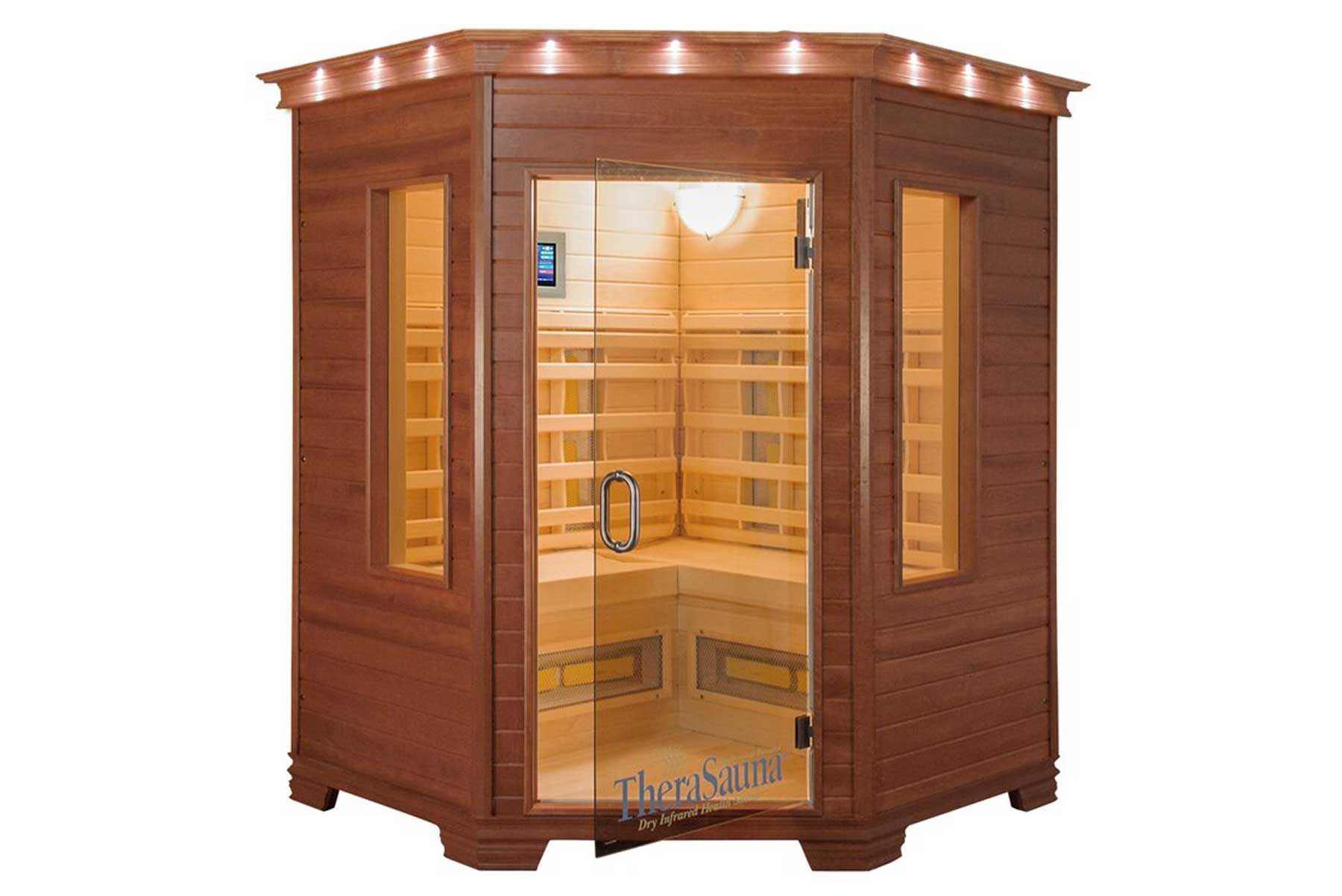 3 Person Corner FAR Infrared Sauna with MPS Touch View Control