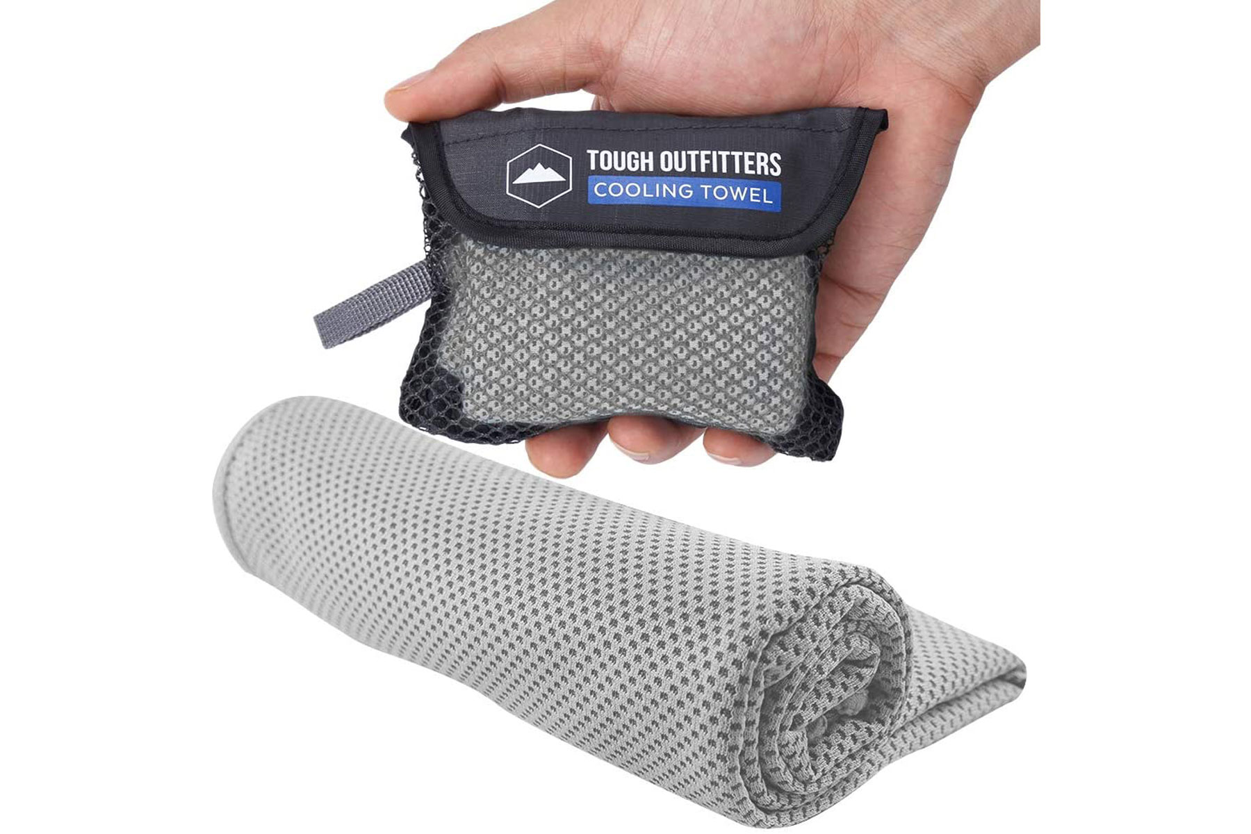 Grey cooling towel