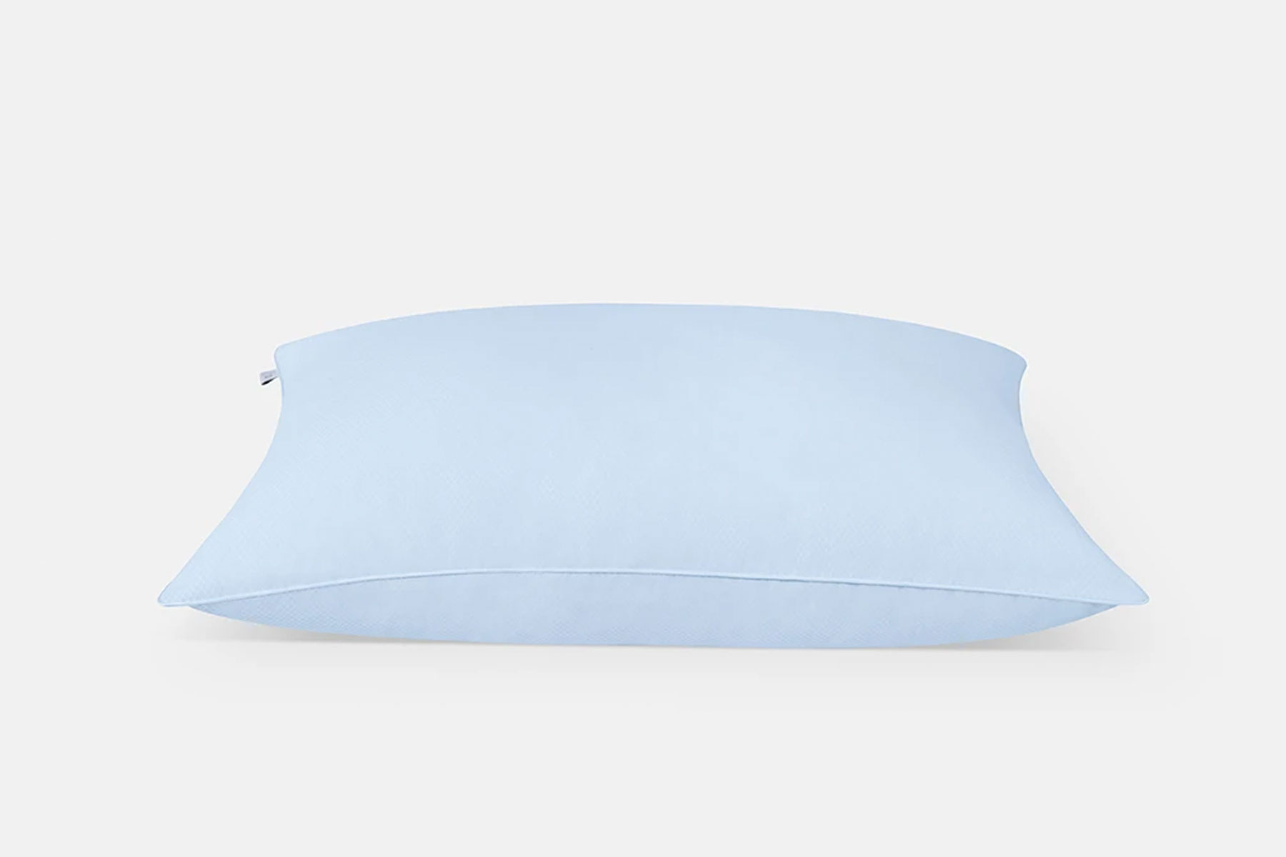 Blue bed pillow