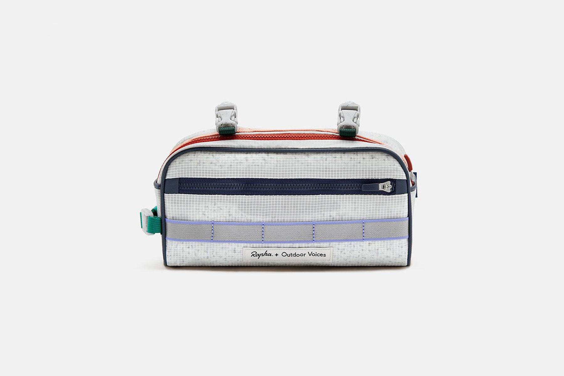 Multi-colored bicycle bar bag