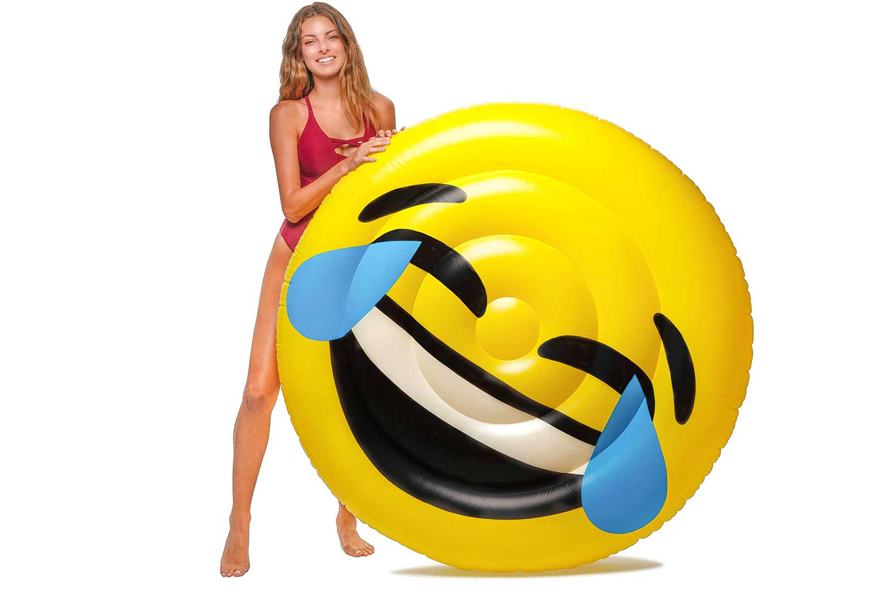 This five-foot laughing emoji pool float wins the award for most culturally relevant floatation device. It also comfortably fits two people on board.To buy: amazon.com, $36