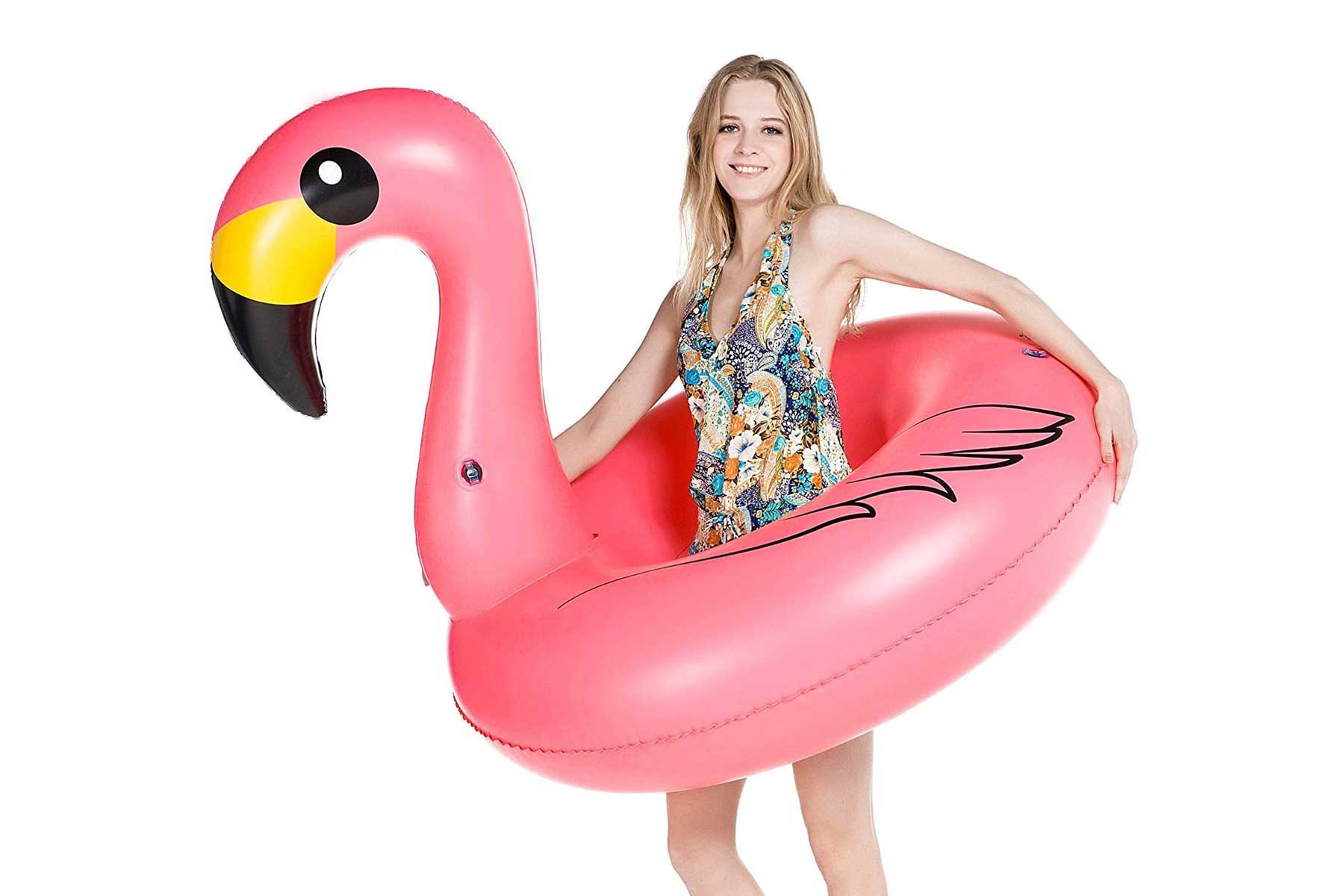 This giant flamingo pool float is the ideal pink beach companion.To buy: amazon.com, $18