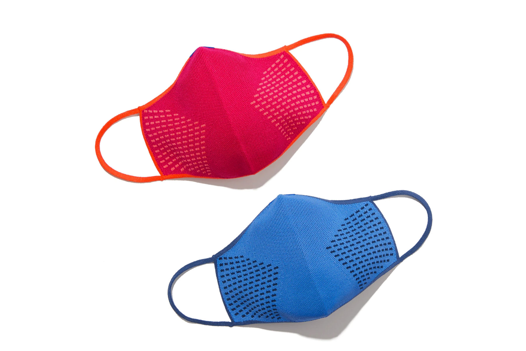 Pink and blue face masks