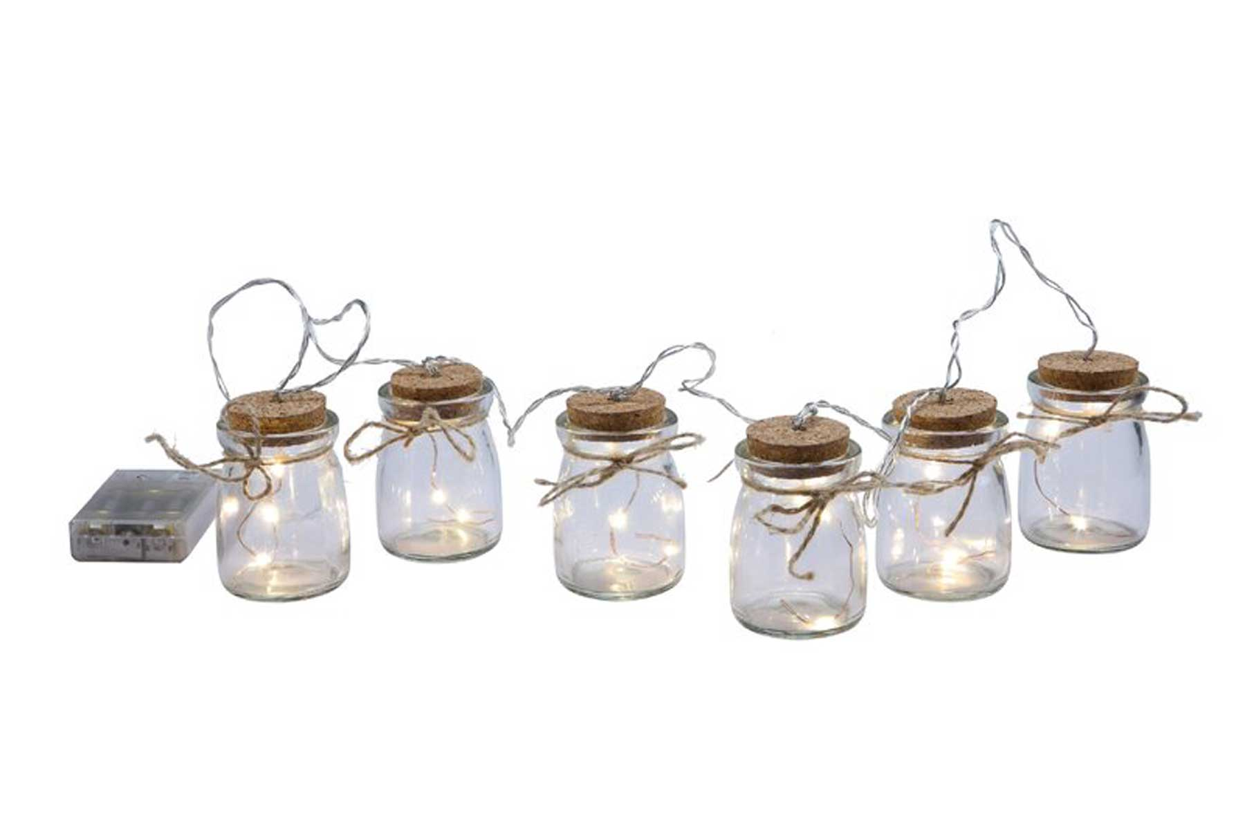 Creative Co-op firefly jar string lights