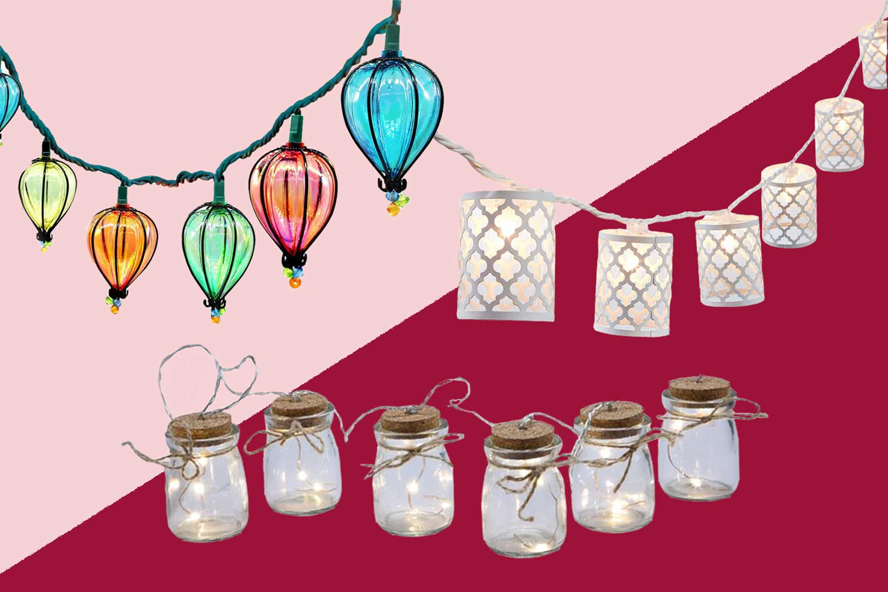 Various patio string lights