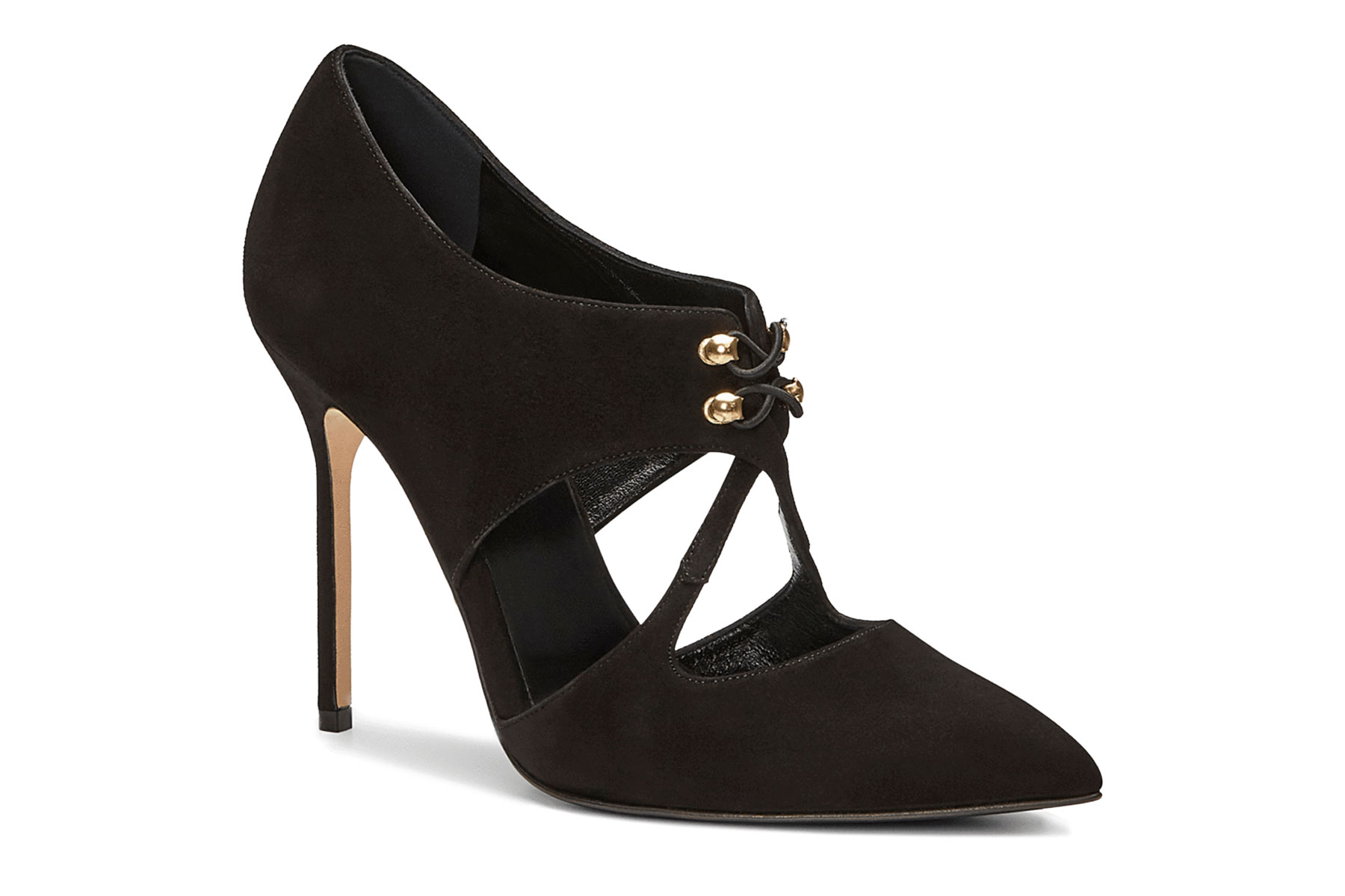 Black closed toe heel