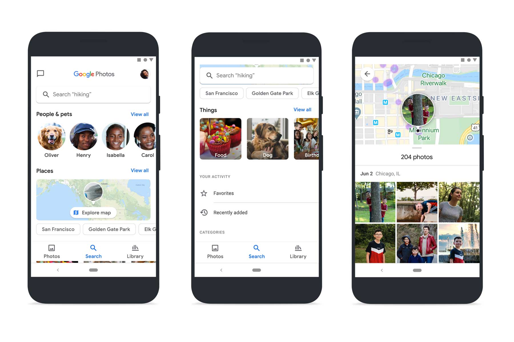 Google Photos new screen redesigns