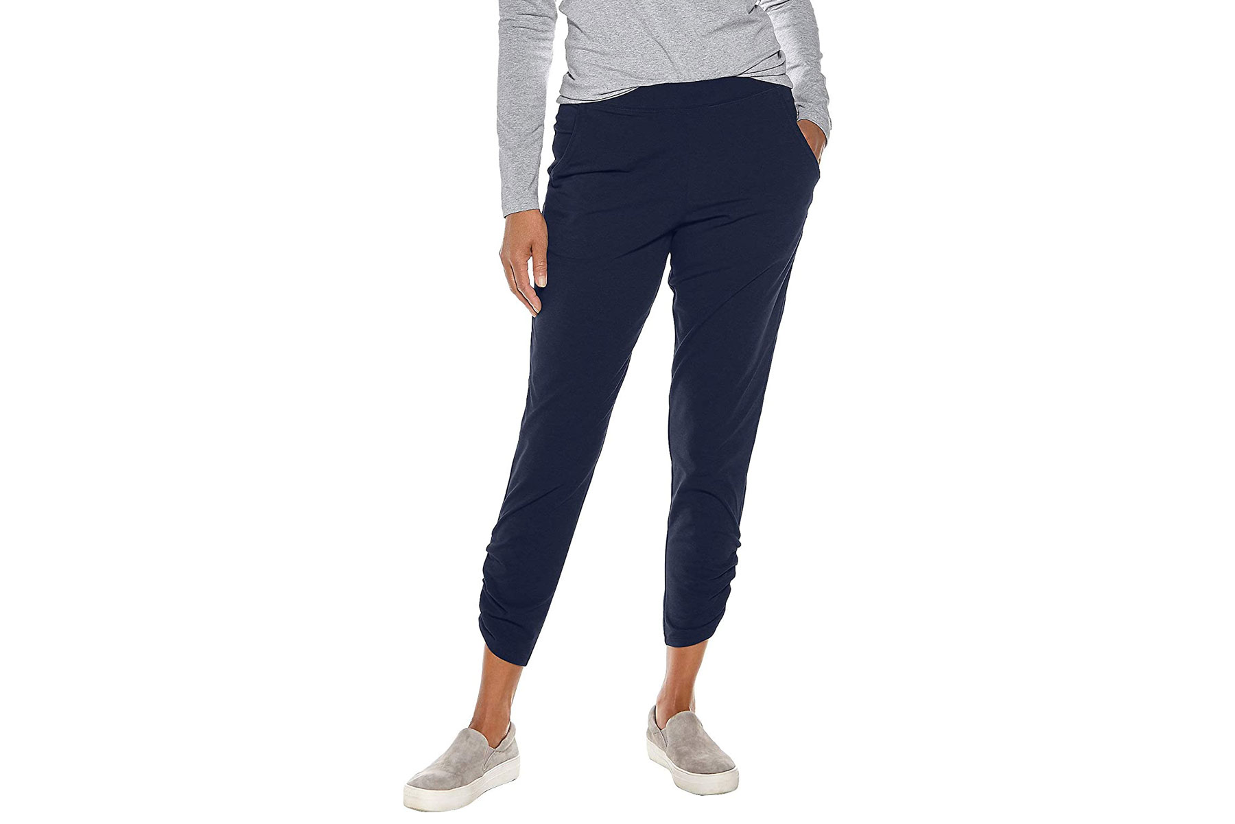 Women's navy cropped pants
