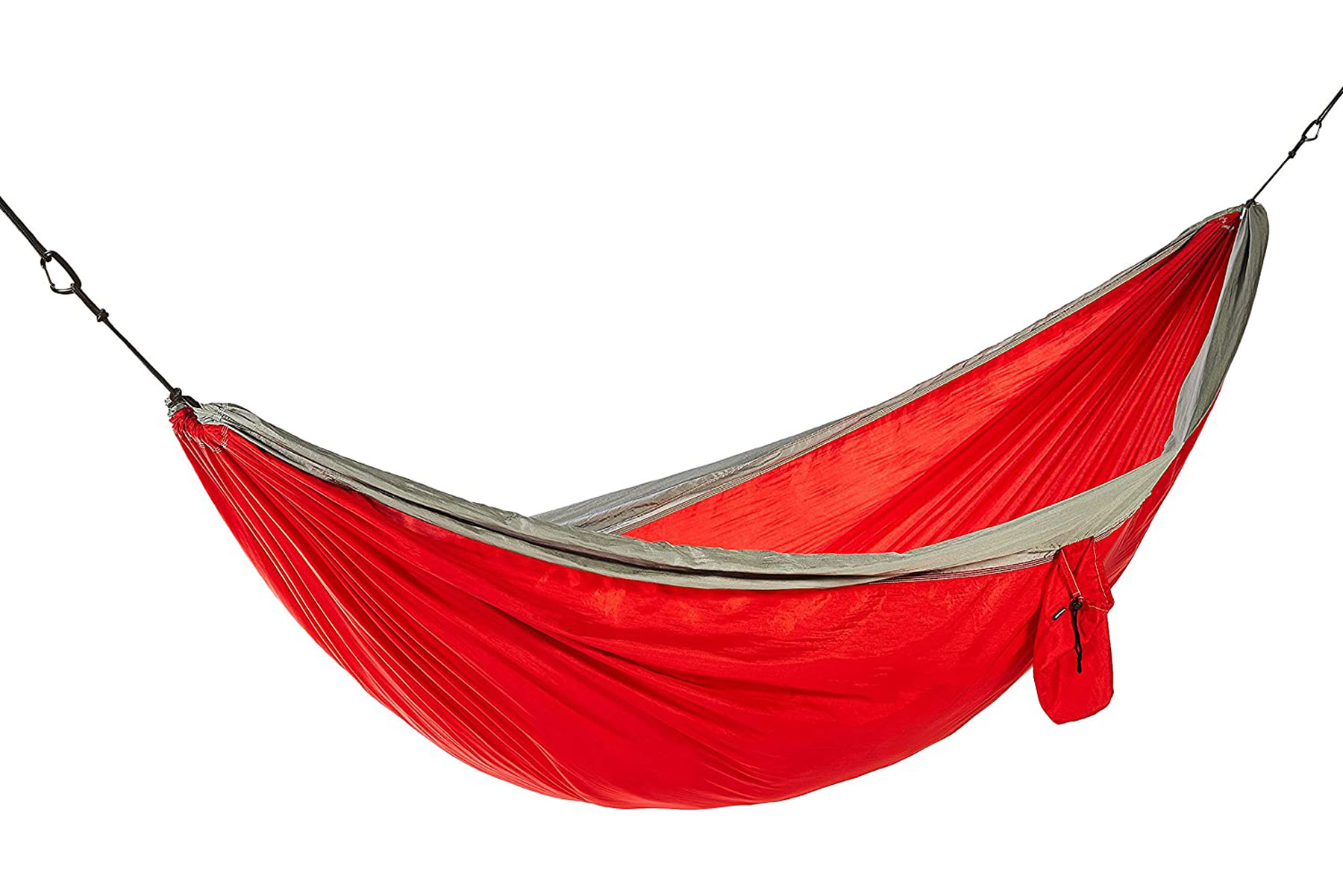 Red camping hammock