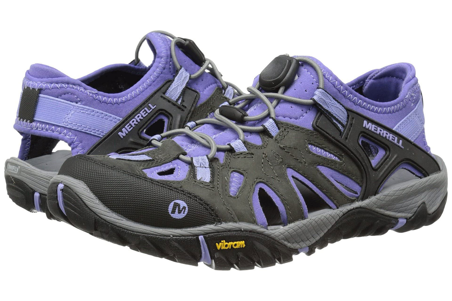 Black and purple water shoes
