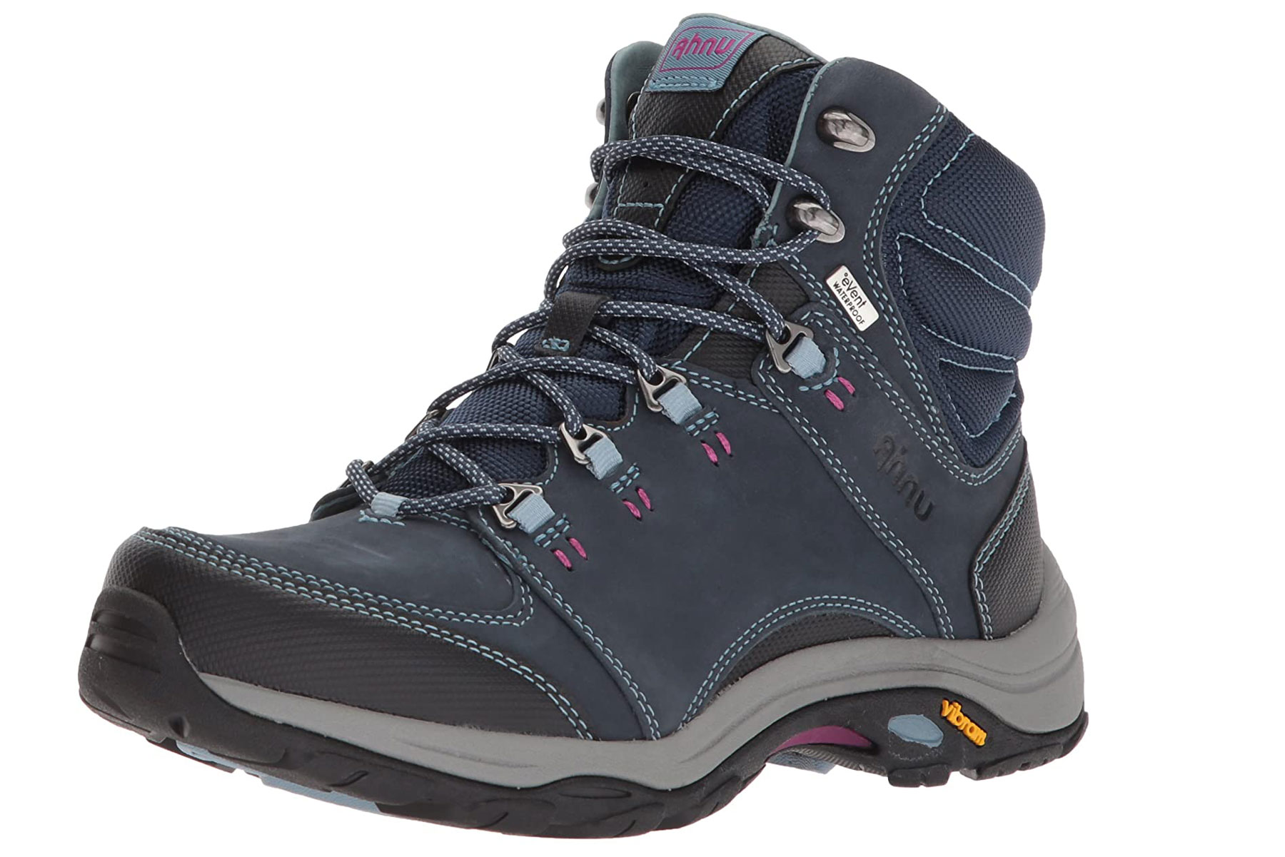 Navy hiking boots
