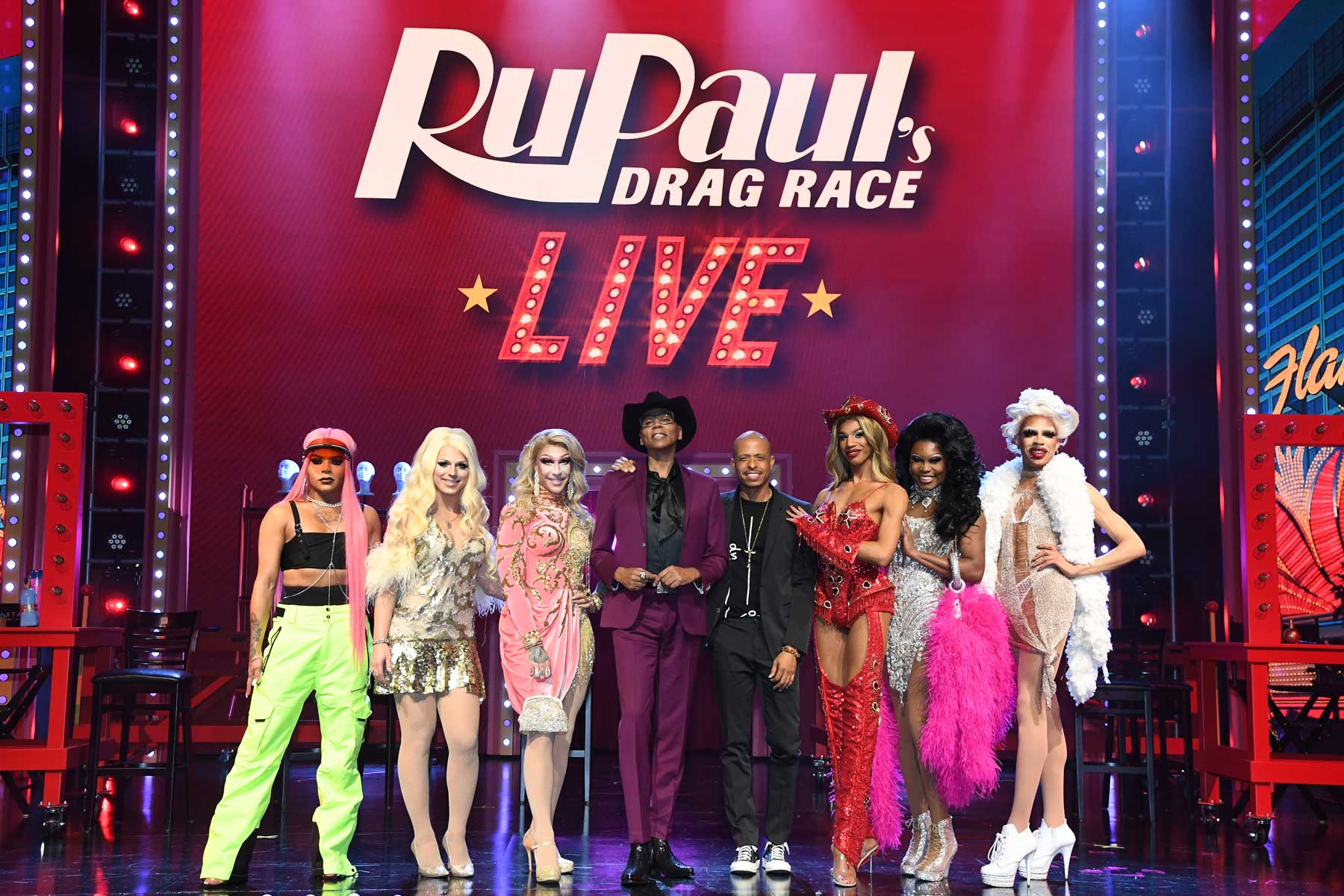 Cast member's of RuPaul's Drag Race Live in Las Vegas