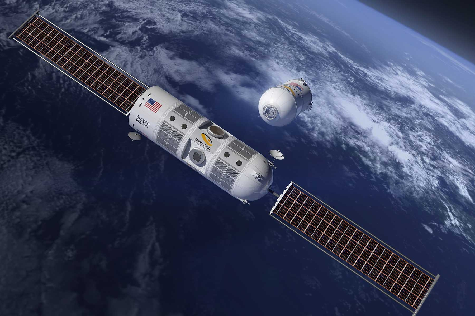 Orion Span in space