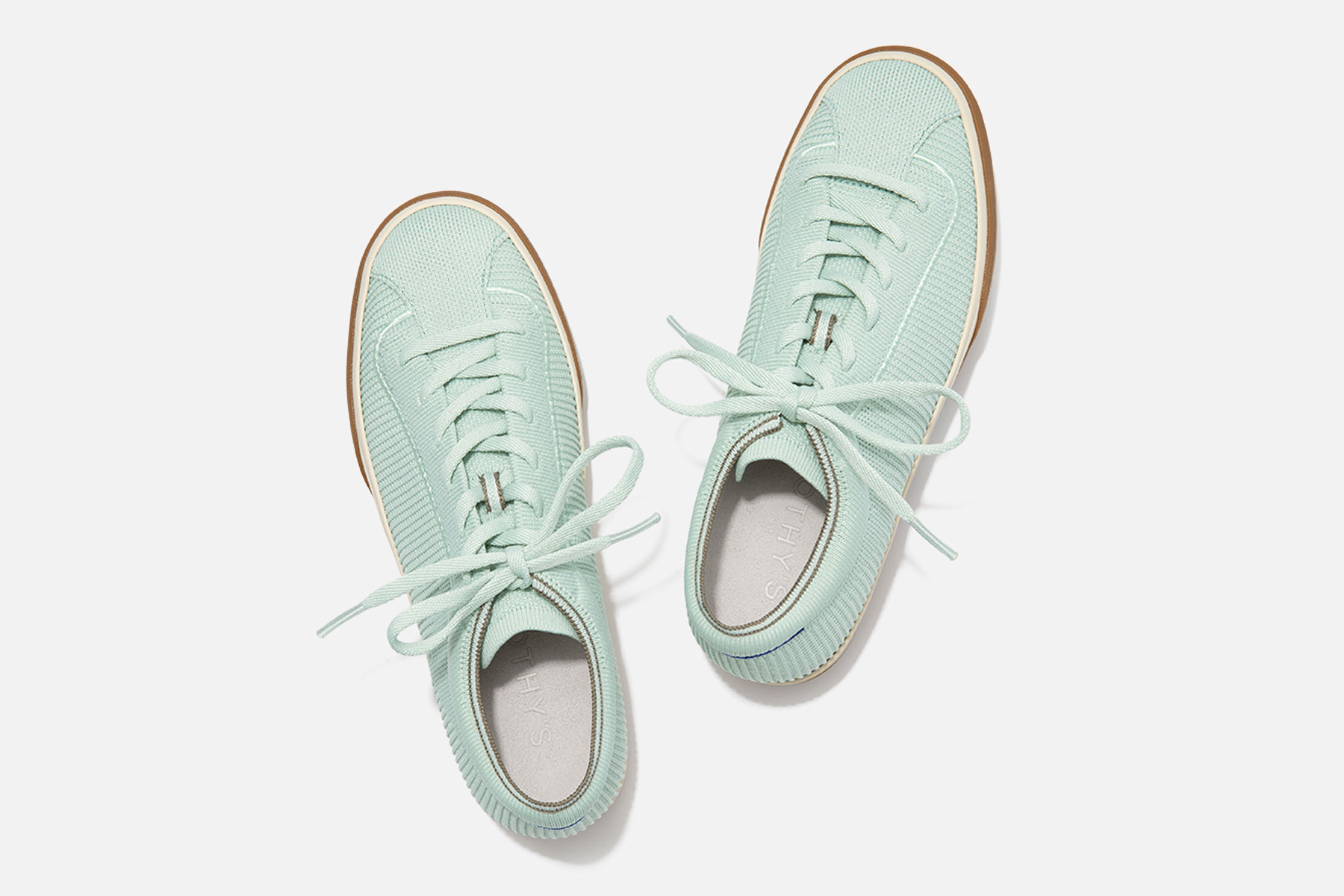 Light green lace up sneakers