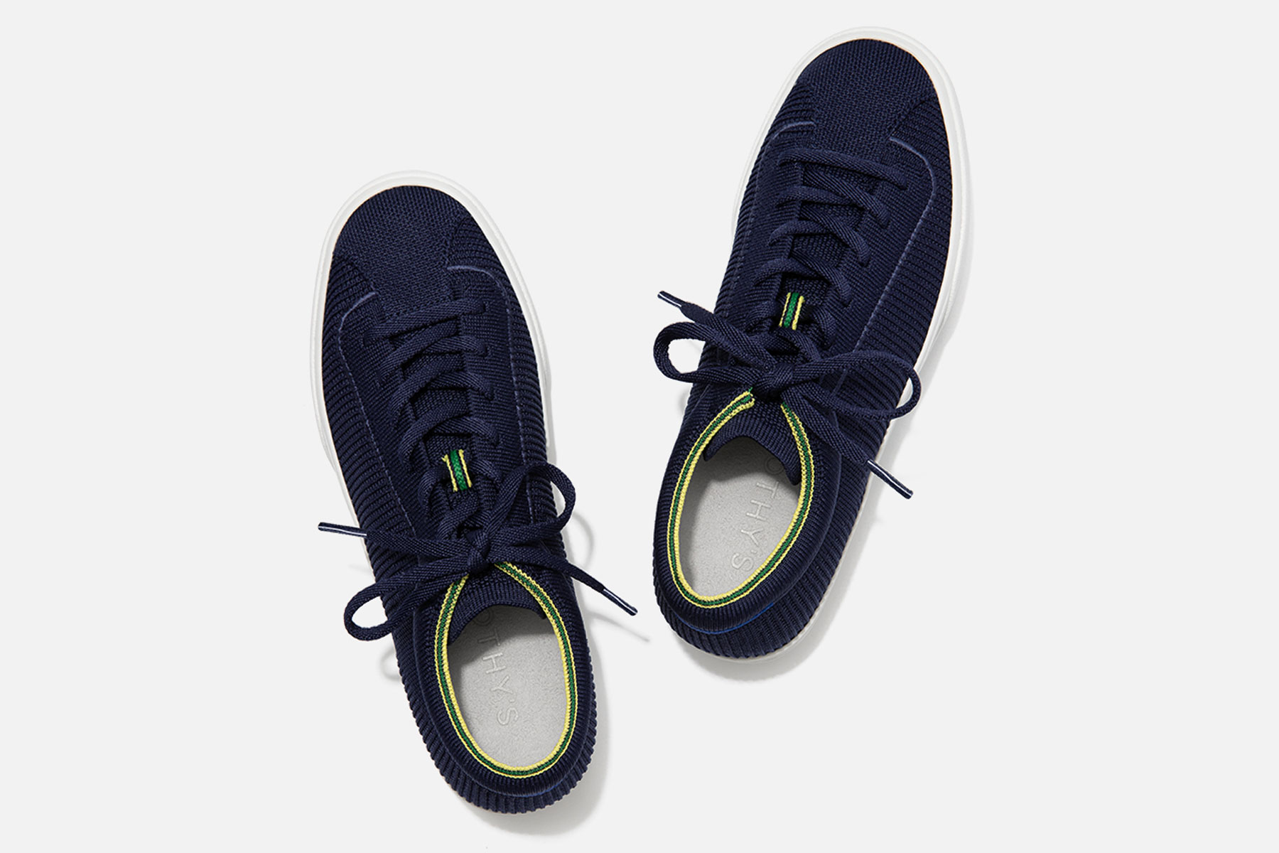 Navy lace up sneakers