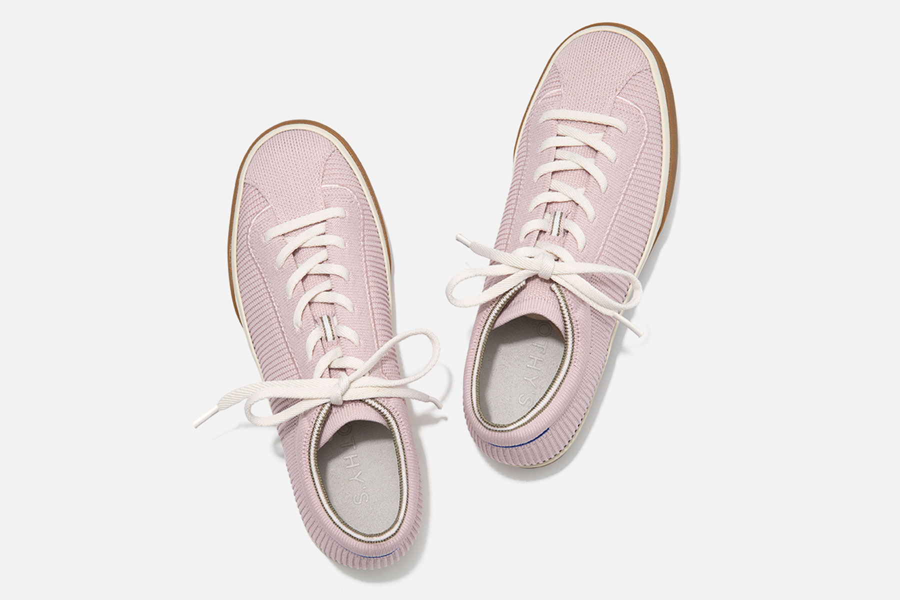 Light purple lace up sneakers