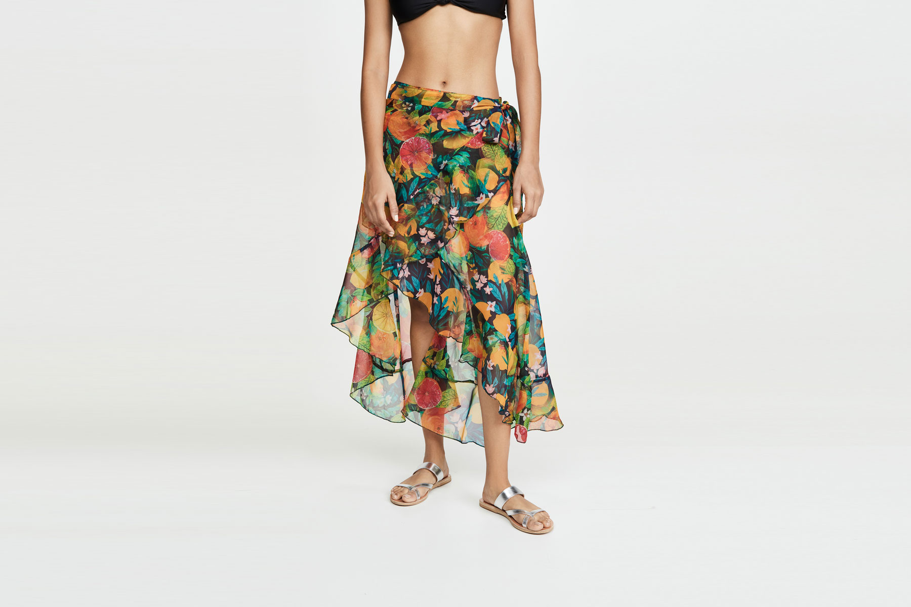 The colorful fruit print and ruffle trim will make this sarong the most fun accessory in your beach bag.To buy: shopbop.com, $95Love a great deal? Sign up for our T+L Recommends newsletter and we'll send you our favorite travel products each week.