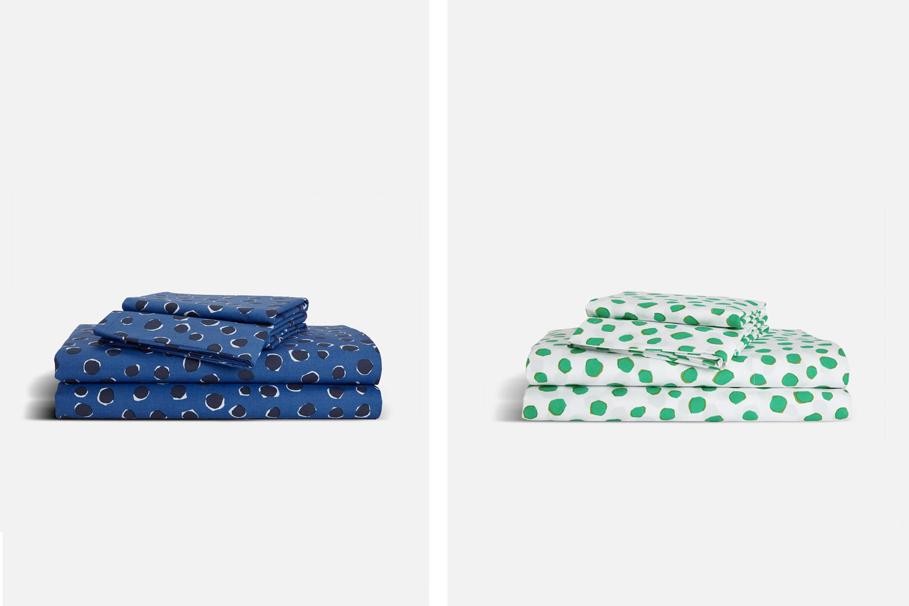Blue and green bedding sheet set