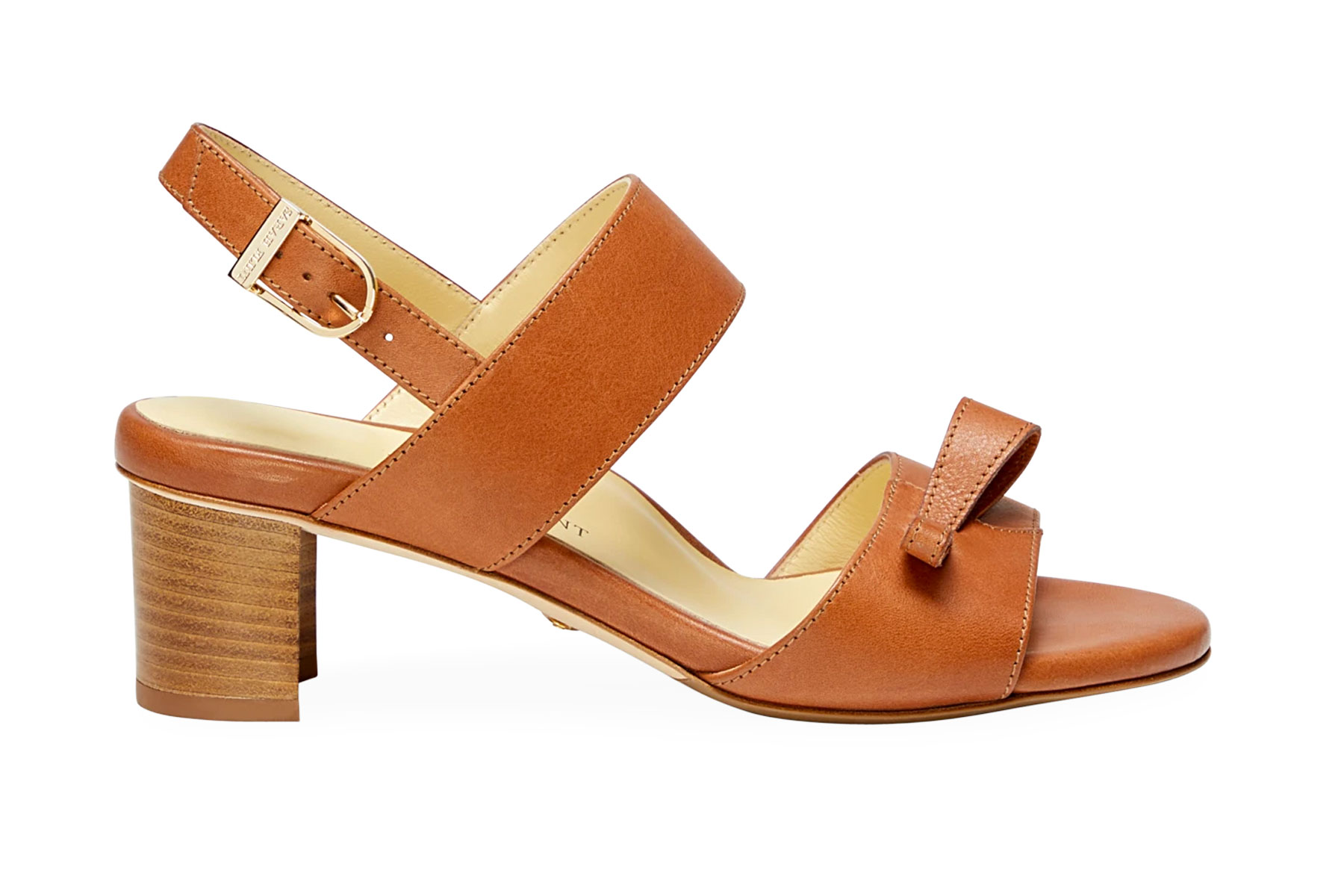 Brown leather heeled sandals