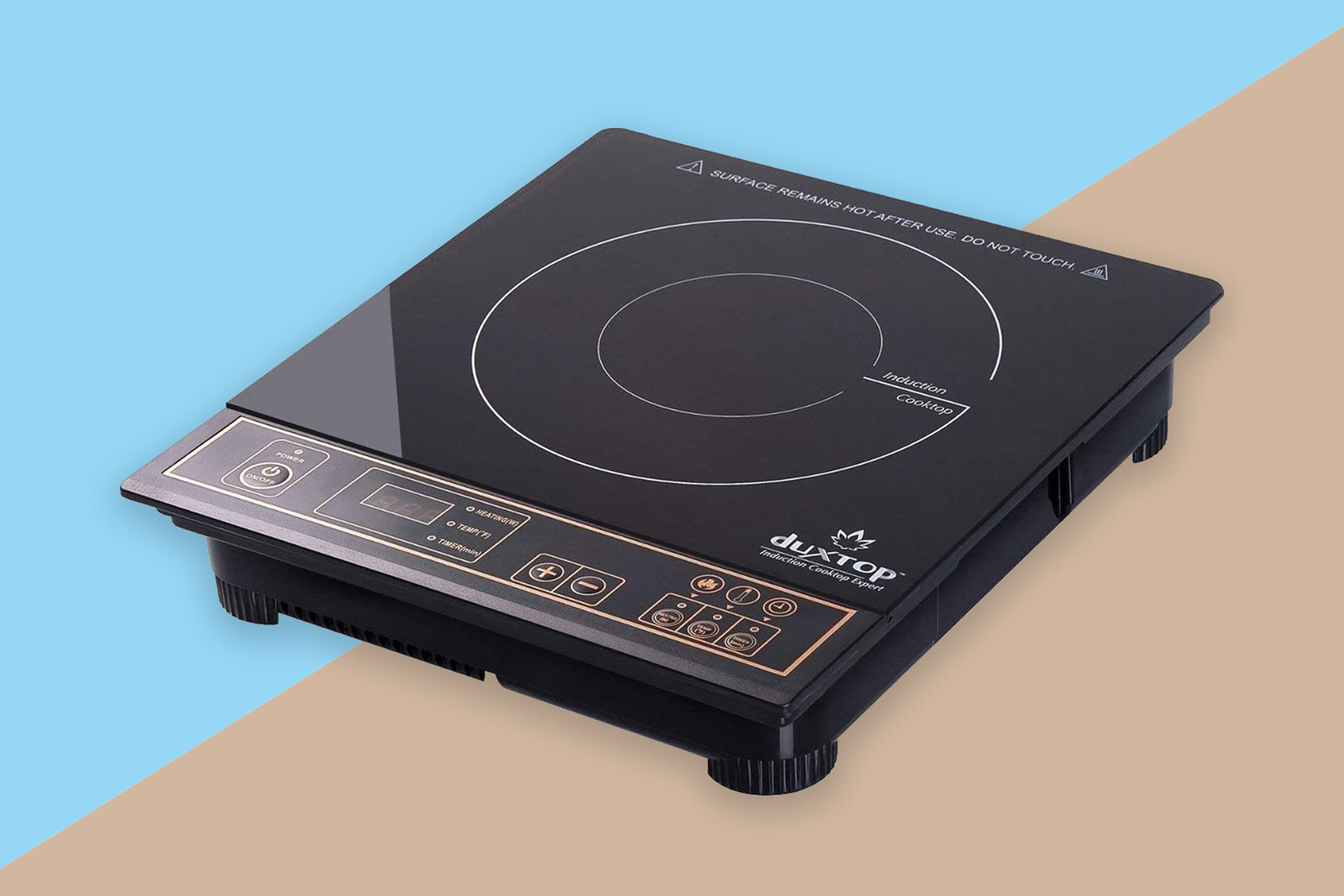 Square induction cooktop