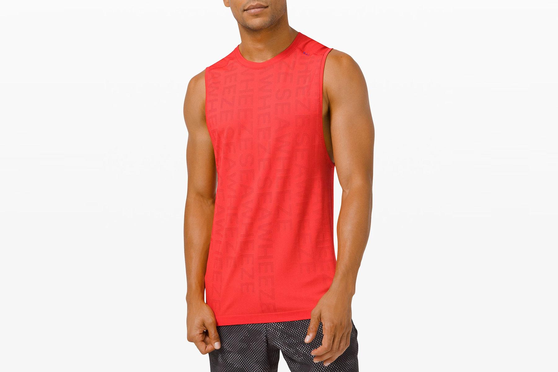 Men's red athletic tank