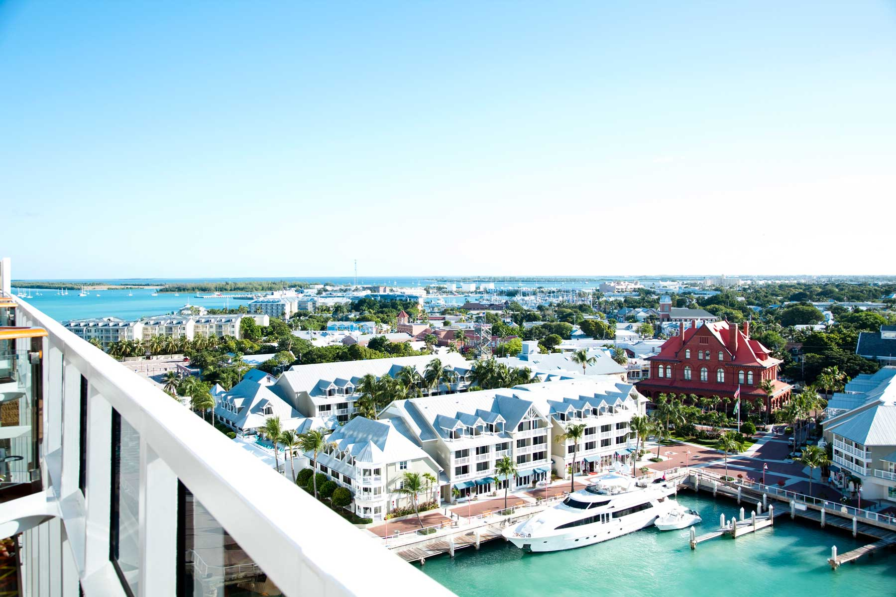 High angle view of Key West Florida