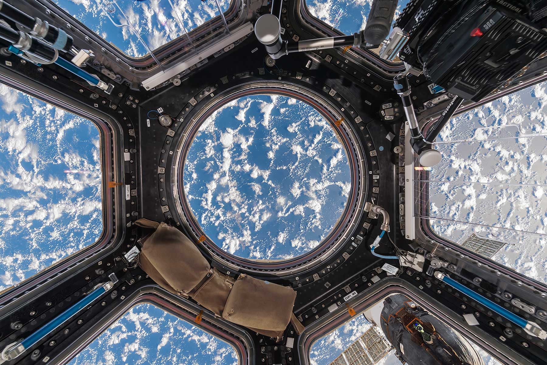 Cupola with Clouds and Ocean International Space Station – ISS Low Earth Orbit, Space