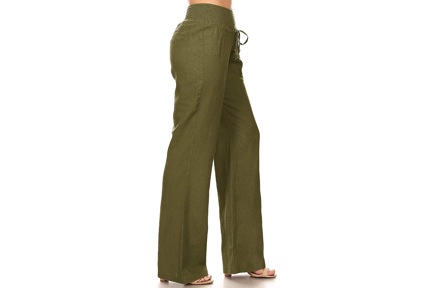 Dark green linen pants