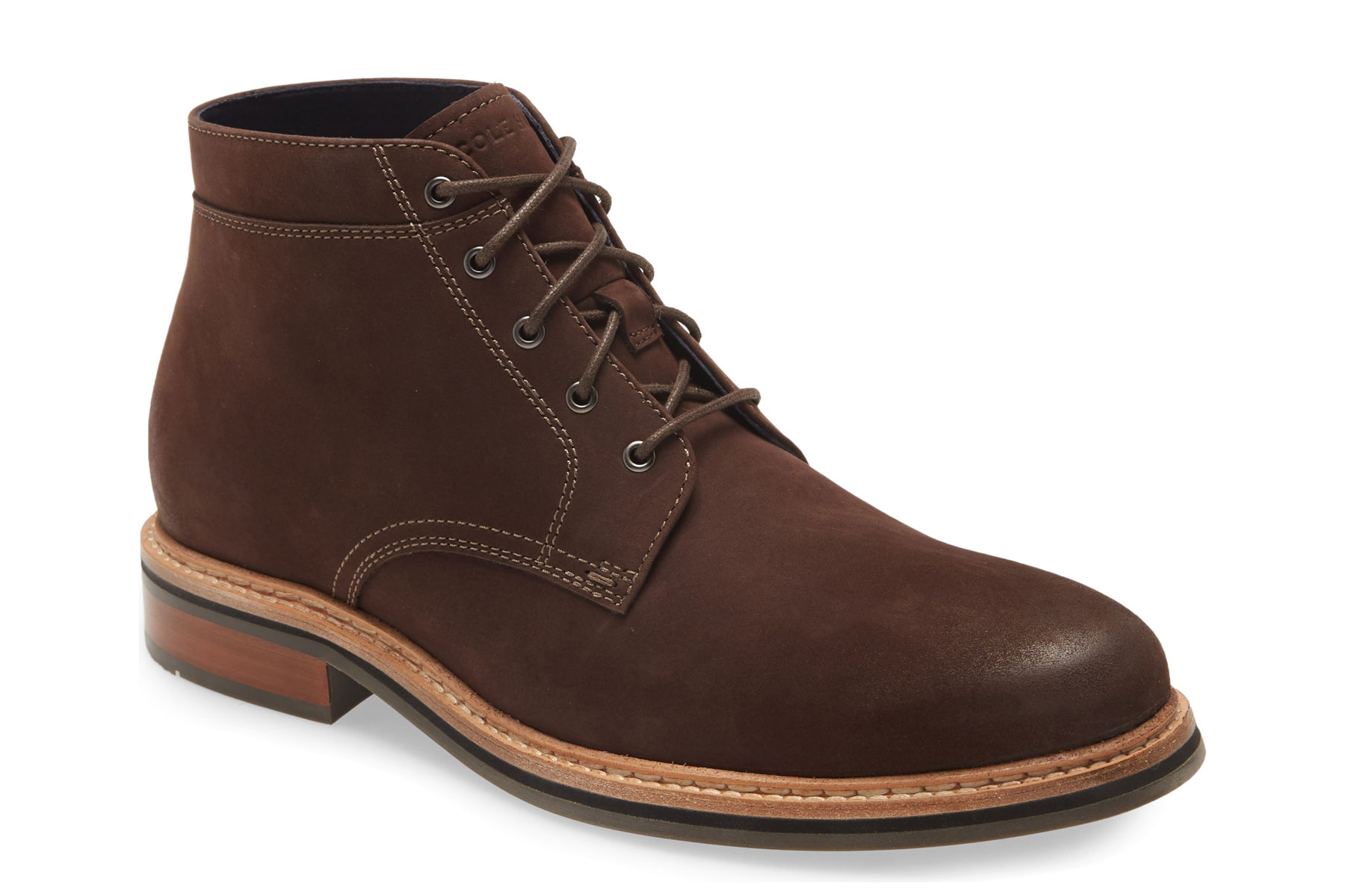 Men's brown lace up boots