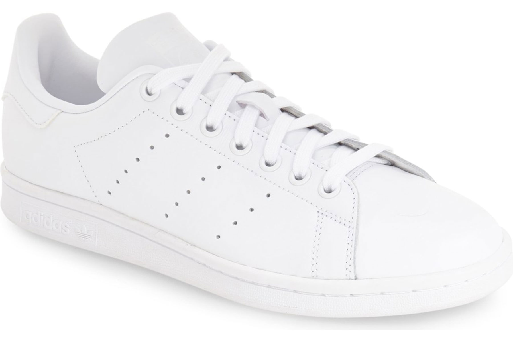 Men's white leather sneakers