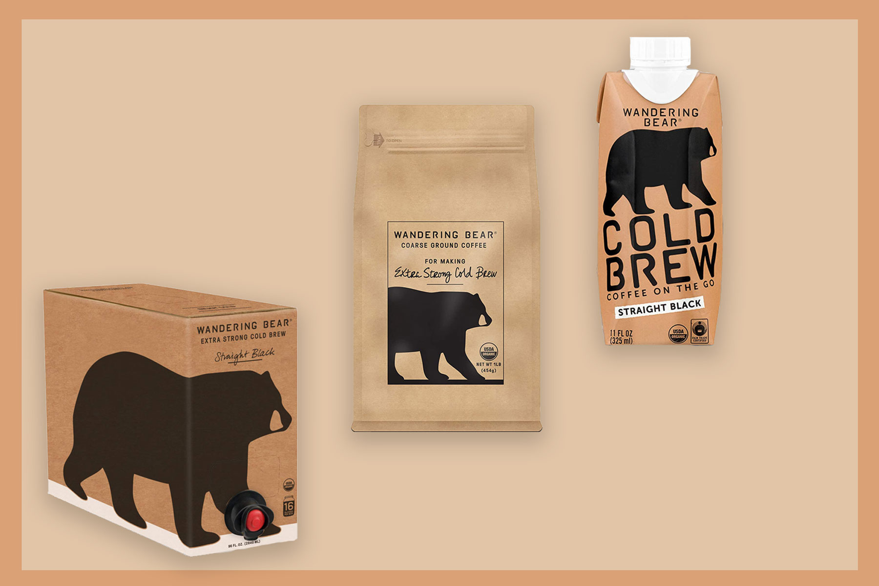 Various at-home coffee bags/products