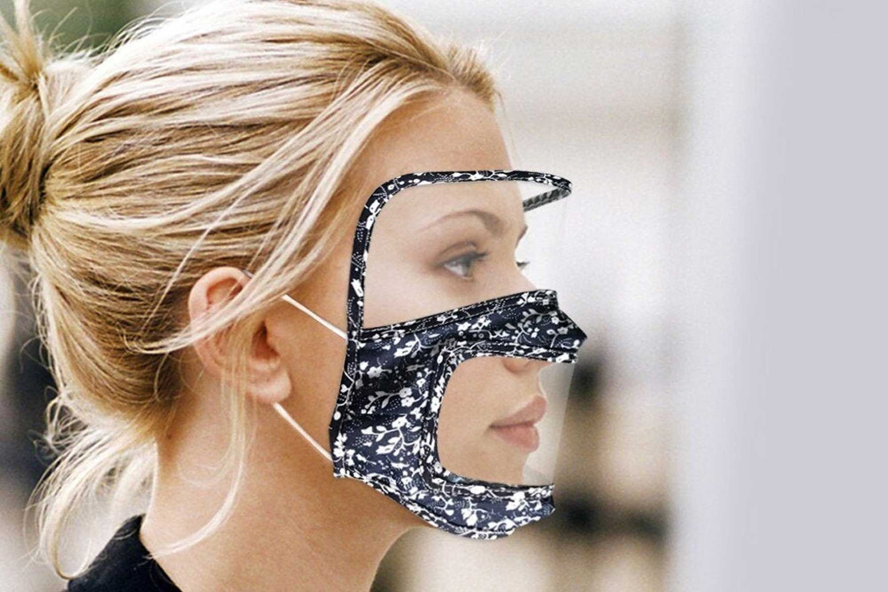 Geoxaral Treasures transparent face mask with shield